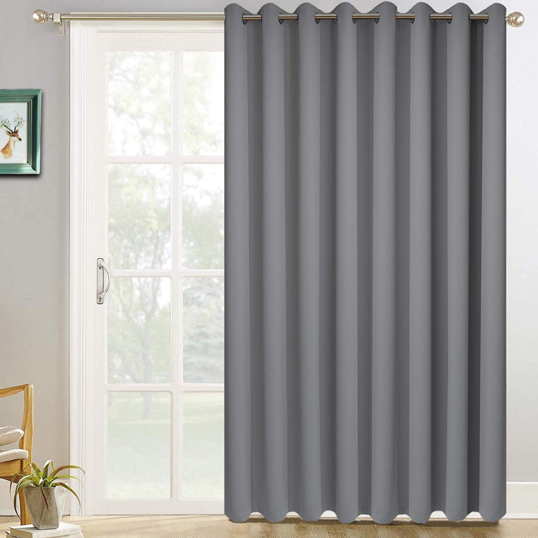 Amazon: Yakamok Room Darkening Wide Blackout Patio Door Within Well Known Grommet Blackout Patio Door Window Curtain Panels (View 19 of 20)
