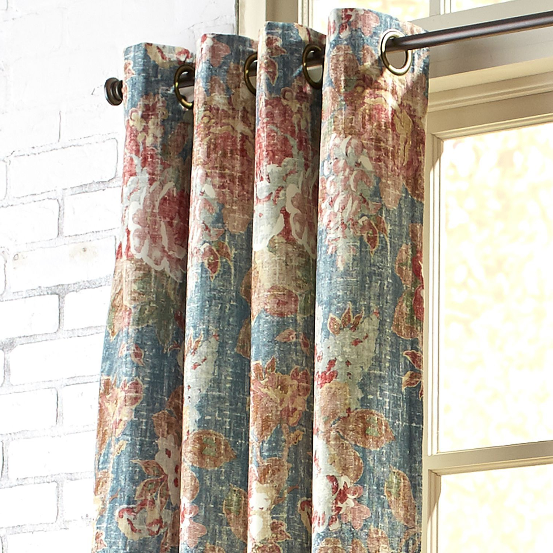 """Amberley Velvet Grommet Blue 96"""" Curtain (View 19 of 20)"""