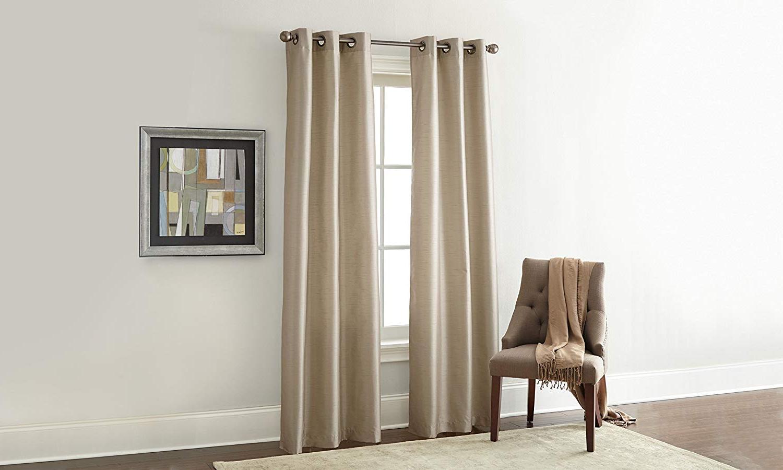 Amrapur Overseas Faux Silk Blackout Curtain Panel Pair, 37 X 84, Seaglass Inside Preferred Overseas Faux Silk Blackout Curtain Panel Pairs (View 3 of 20)