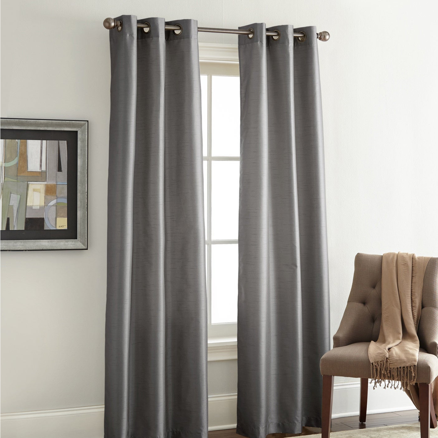 Amrapur Overseas Faux Silk Blackout Curtain Panel Pair For Best And Newest Overseas Faux Silk Blackout Curtain Panel Pairs (View 2 of 20)