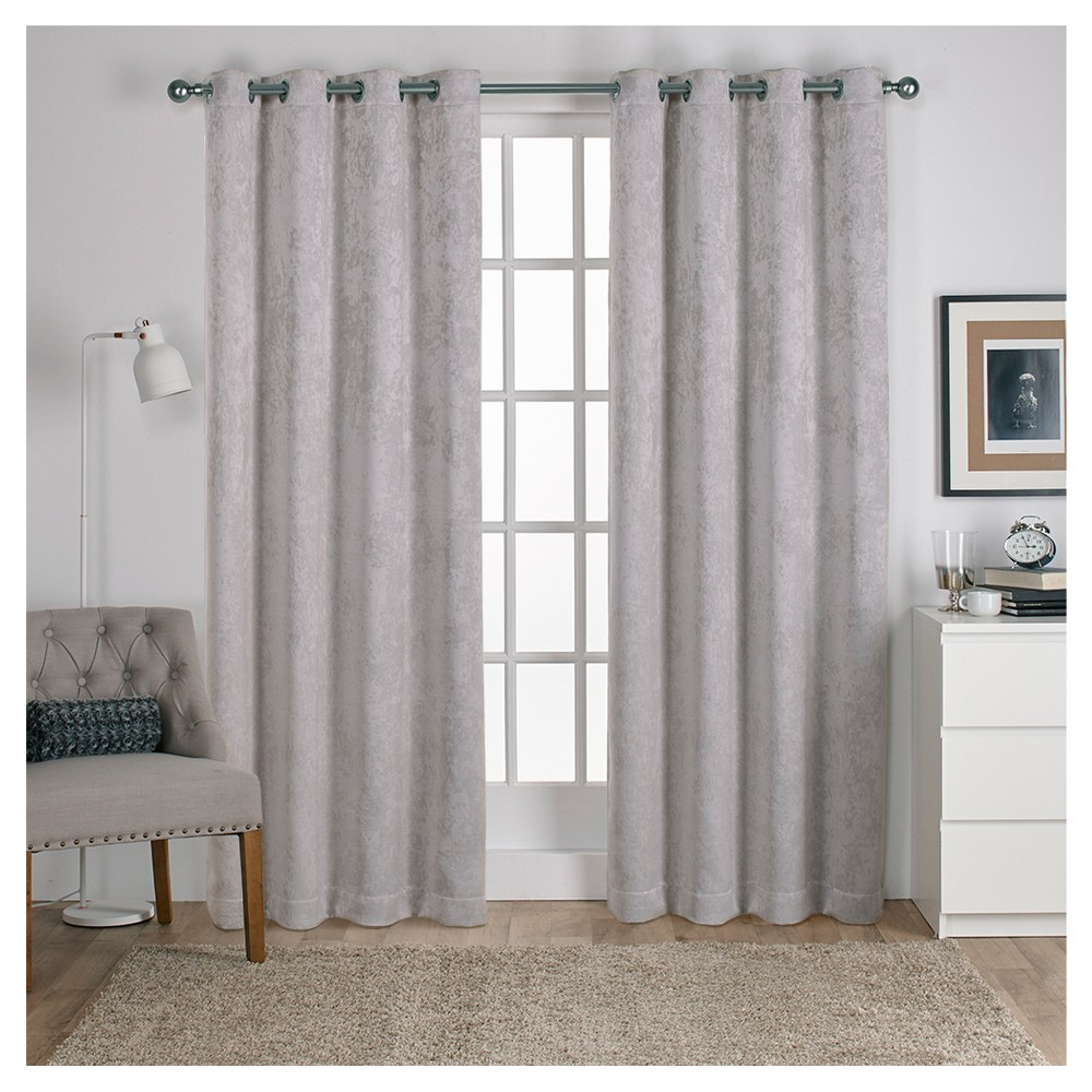 Antique Shantung Woven Blackout Curtain Panels Silver (52 In Latest Antique Silver Grommet Top Thermal Insulated Blackout Curtain Panel Pairs (View 6 of 20)