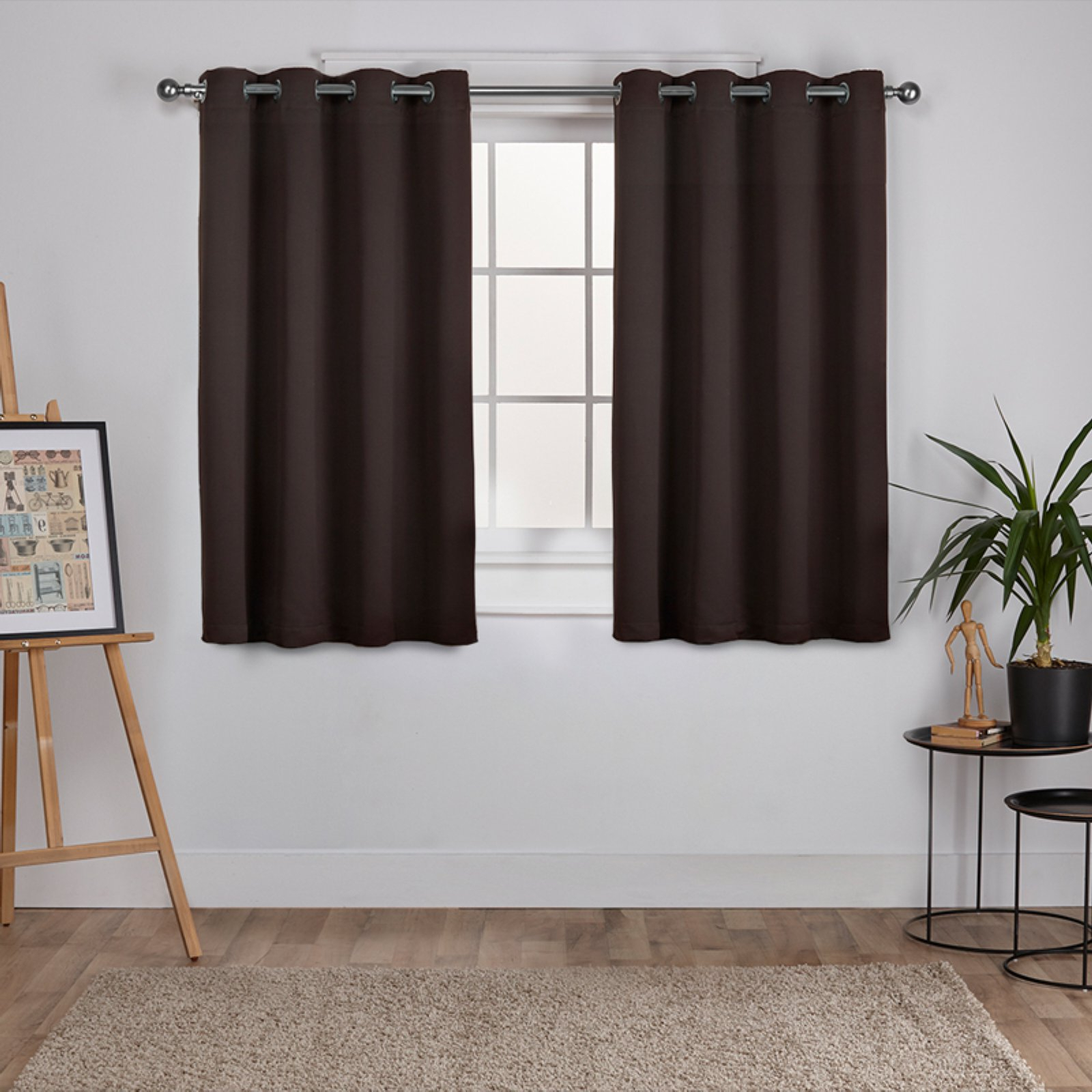 Antique Silver Grommet Top Thermal Insulated Blackout Curtain Panel Pairs Intended For Best And Newest Exclusive Home Sateen Twill Weave Blackout Window Curtain Panel Pair With Grommet Top (View 18 of 20)
