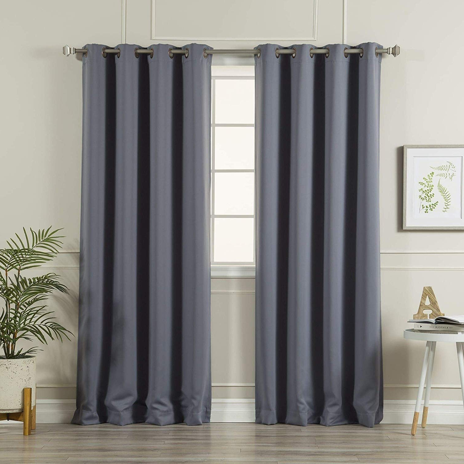 Antique Silver Grommet Top Thermal Insulated Blackout Curtain Panel Pairs Regarding Newest Aurora Home Antique Silver Grommet Top Thermal Insulated Blackout Curtain Panel Pair – N/a Stonewashed Denim 52 X (View 2 of 20)