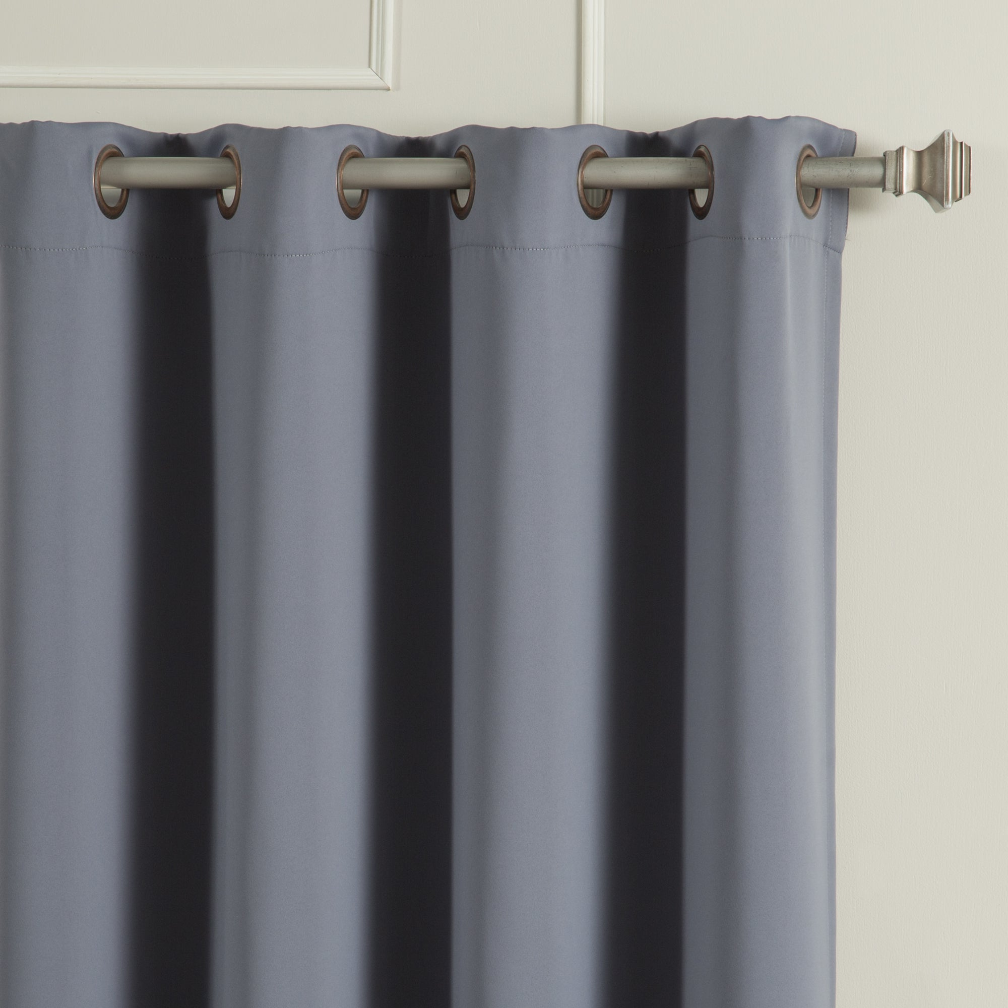 Antique Silver Grommet Top Thermal Insulated Blackout Curtain Panel Pairs Throughout 2021 Aurora Home Antique Silver Grommet Top Thermal Insulated Blackout Curtain Panel Pair (View 10 of 20)