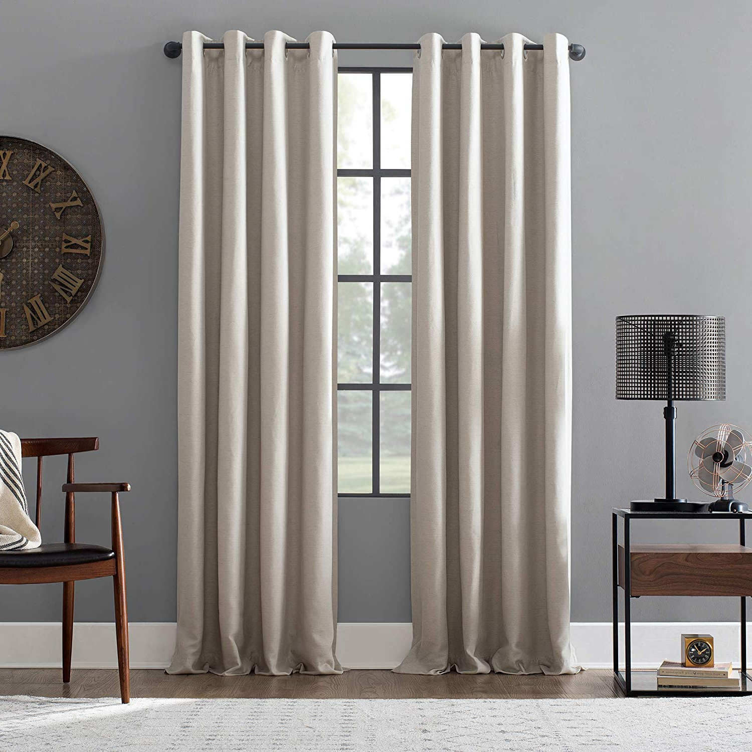 "Archaeo Jigsaw Embroidery Linen Blend Curtain Panels With Most Up To Date Archaeo Linen Blend Blackout Grommet Top Curtain 52"" X 84"" Pearl (View 13 of 20)"