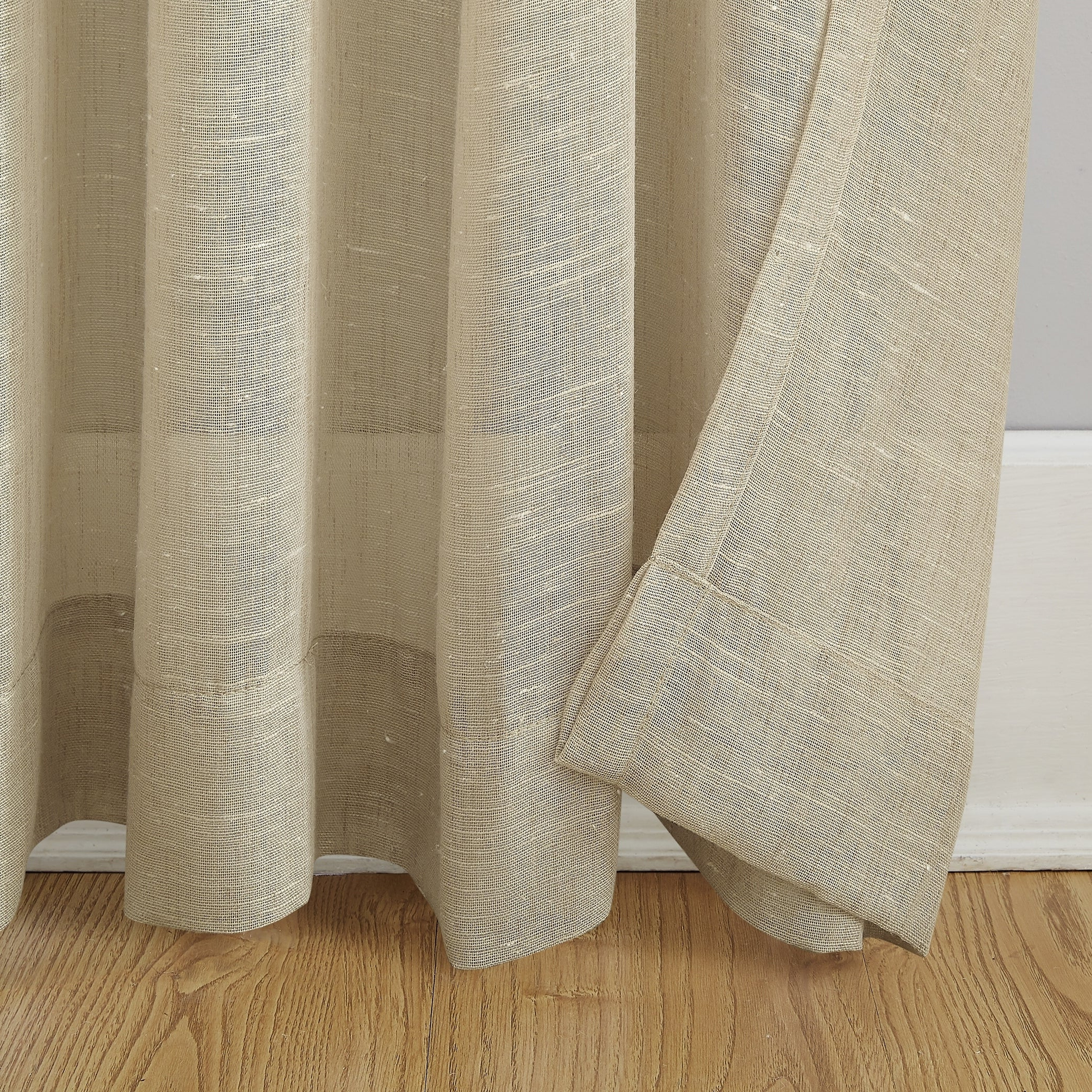 Archaeo Slub Textured Linen Blend Grommet Top Curtain Regarding Popular Archaeo Slub Textured Linen Blend Grommet Top Curtains (View 4 of 20)