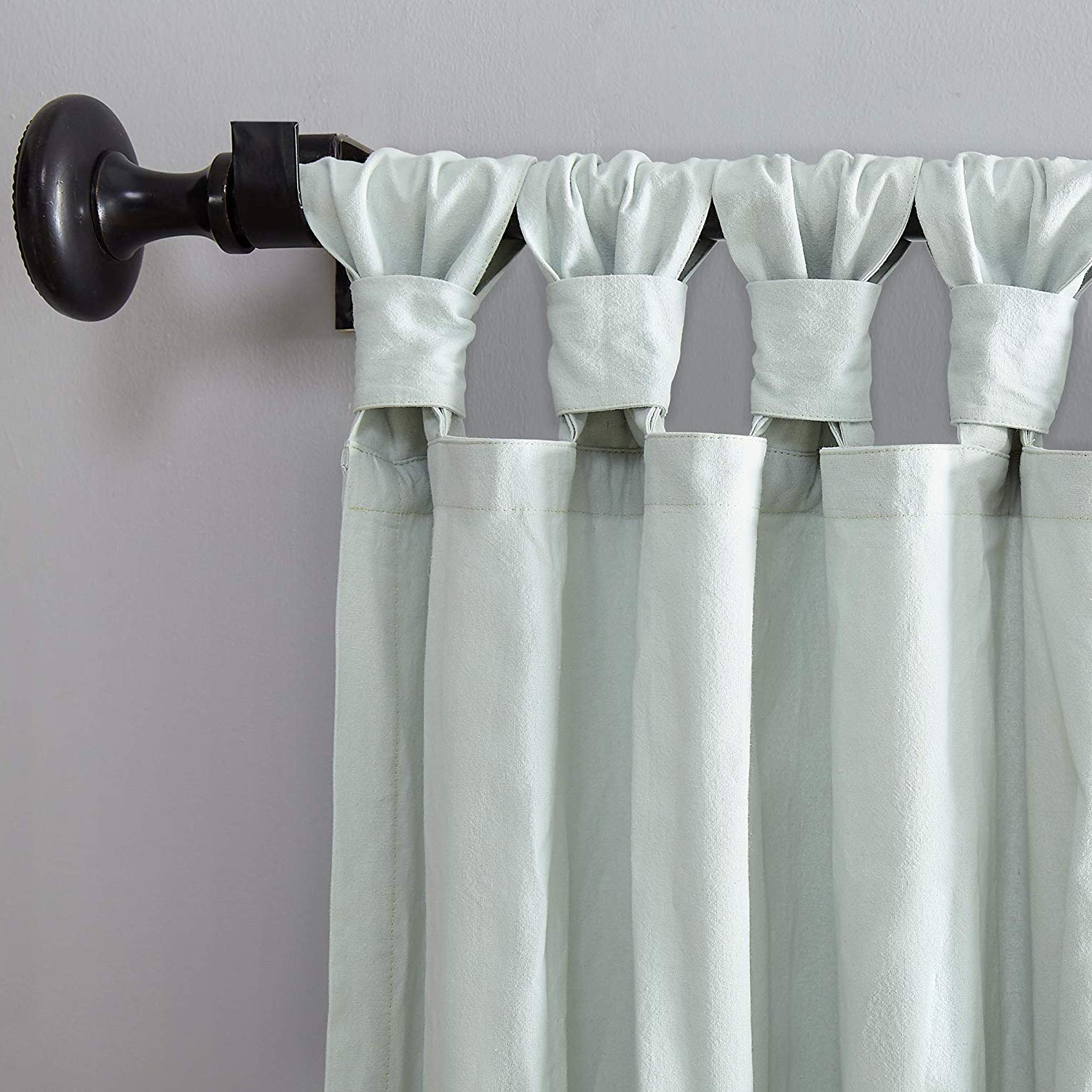 "[%Archaeo Washed 100% Cotton Twist Tab Curtain, 52"" X 84"" Panel, Seafoam Green Inside Fashionable Archaeo Washed Cotton Twist Tab Single Curtain Panels