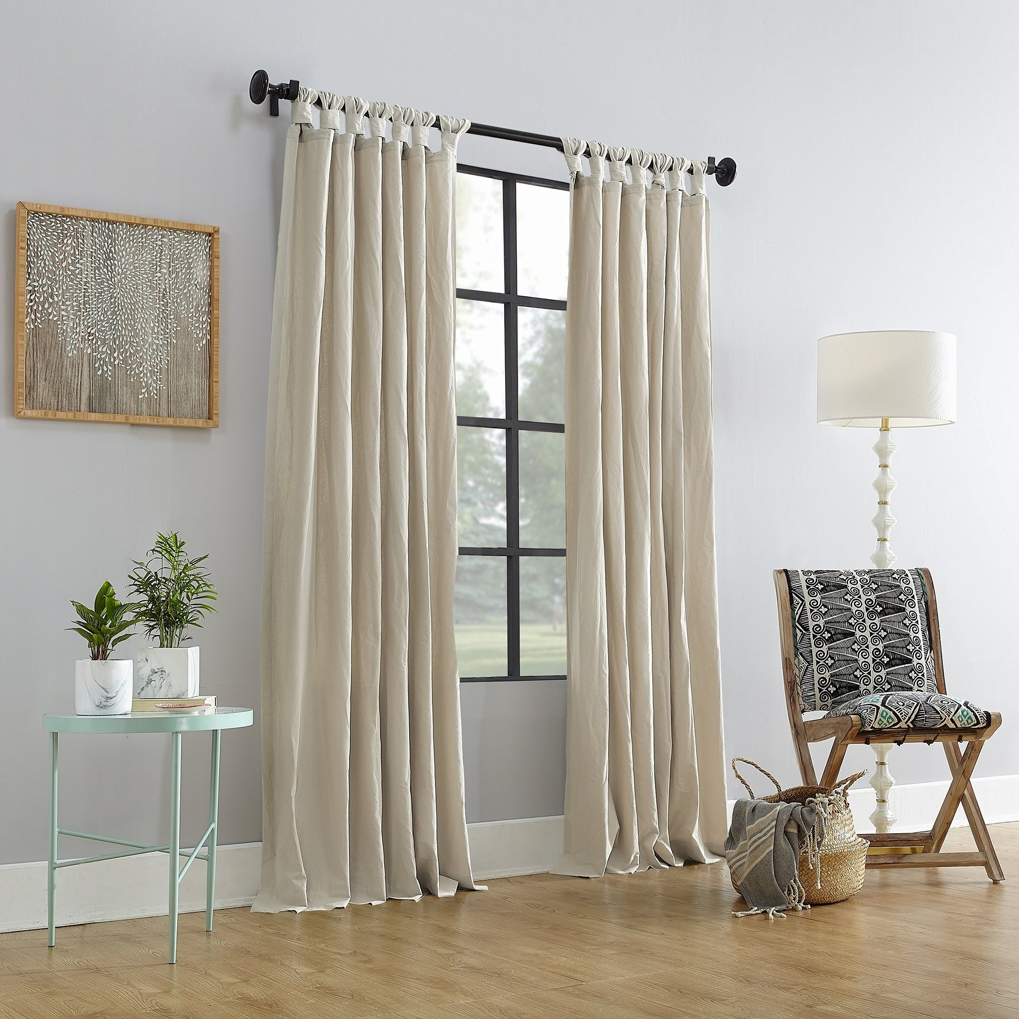 Archaeo Washed Cotton Twist Tab Single Curtain Panels With Well Known Archaeo Washed Cotton Twist Tab Single Curtain Panel (View 6 of 20)