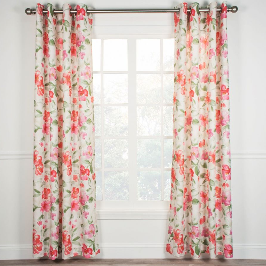 Arden Lined Grommet Top Curtain Panel – Pink Intended For Well Known Lined Grommet Curtain Panels (View 16 of 20)
