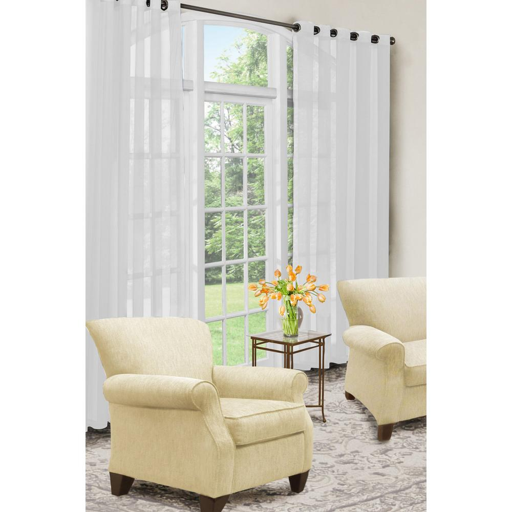Arm And Hammer Curtains Fresh Odor Neutralizing Single Curtain Panels With Trendy Curtain Fresh Arm And Hammer Odor Neutralizing Sheer Window Curtain Panel In White – 59 In. W X 84 In (View 8 of 20)