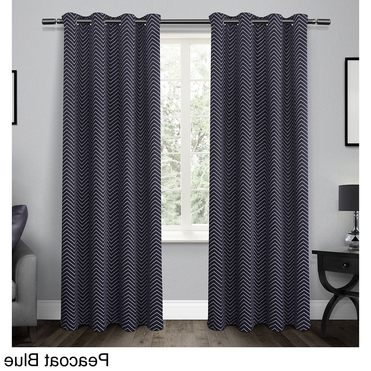 Ati Home Chevron Thermal Woven Blackout Grommet Top Curtain Inside Most Recently Released Chevron Blackout Grommet Curtain Panels (View 14 of 20)