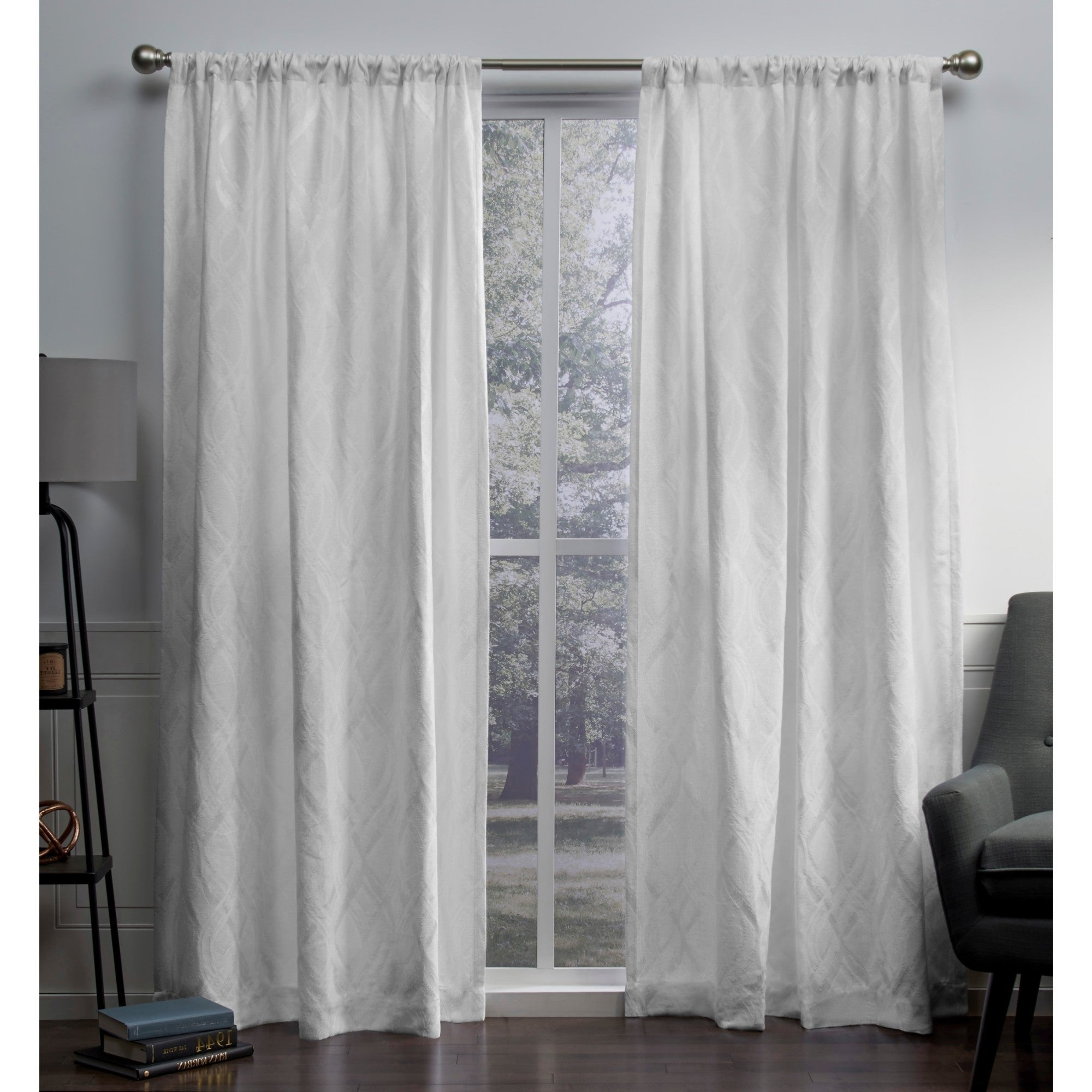 Ati Home Elena Chenille Rod Pocket Top Curtain Panel Pair Inside Famous Infinity Sheer Rod Pocket Curtain Panels (View 15 of 20)