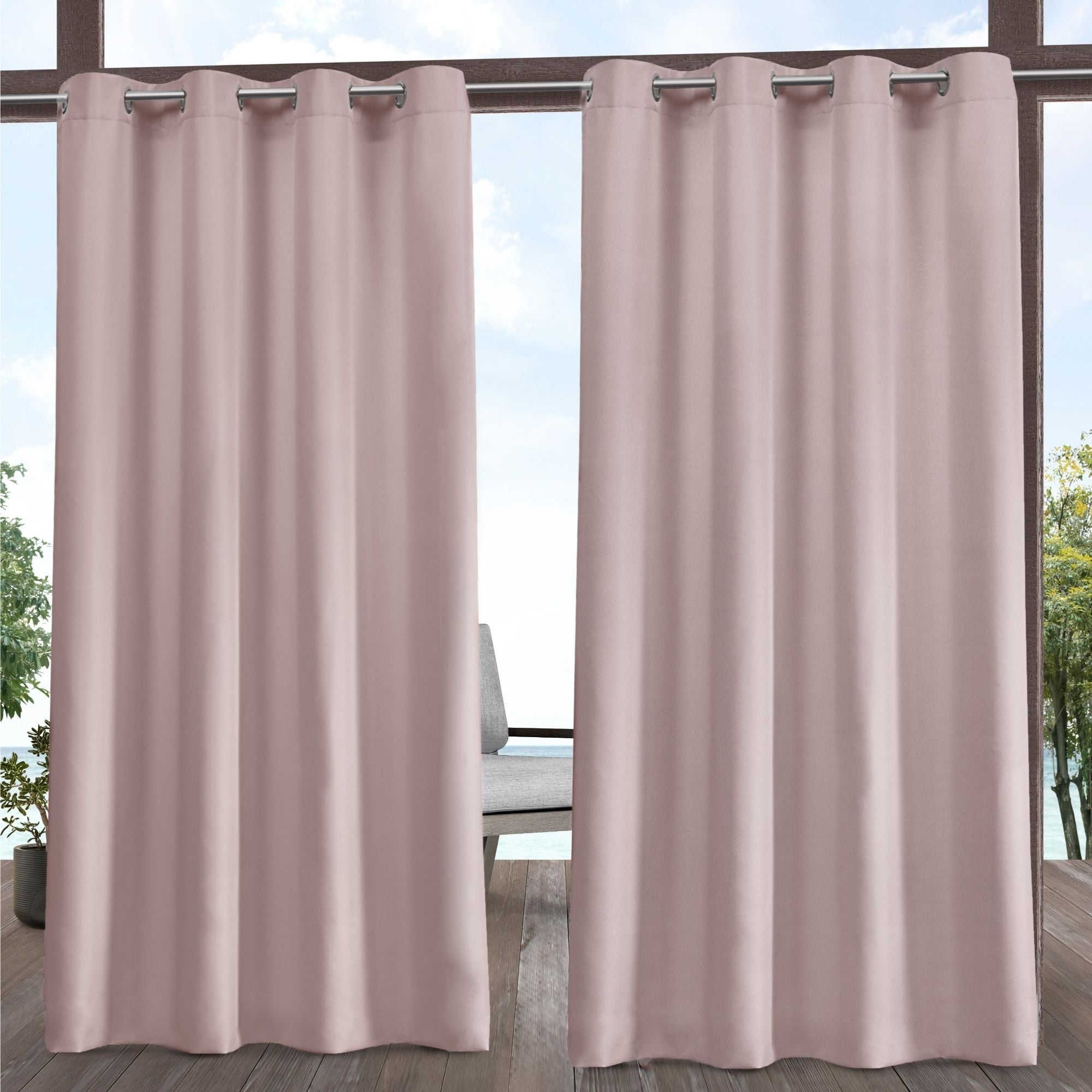 Ati Home Indoor/outdoor Solid Cabana Grommet Top Curtain Panel Pair Within Most Current Solid Grommet Top Curtain Panel Pairs (View 19 of 20)