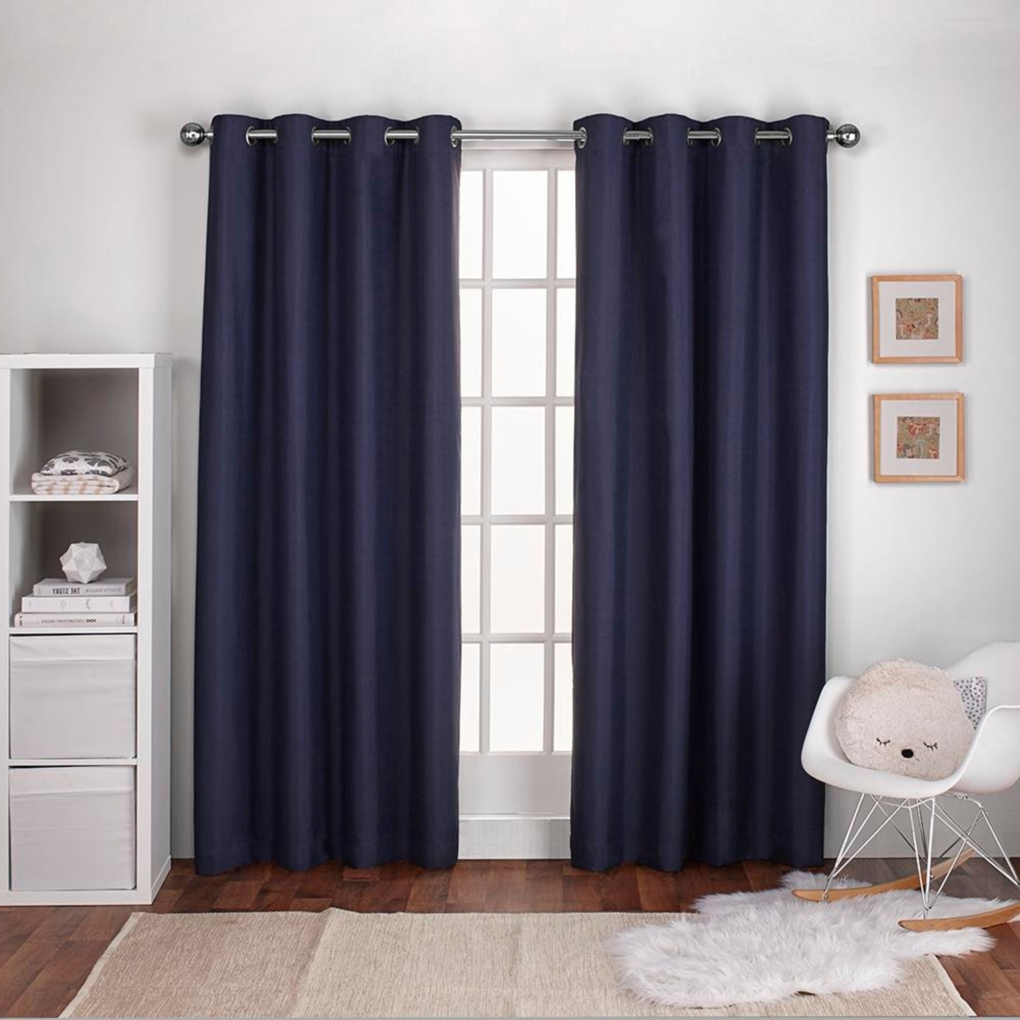 Ati Home Linen Thermal Woven Blackout Grommet Top Curtain Panel Pair Pertaining To 2020 Woven Blackout Grommet Top Curtain Panel Pairs (View 17 of 20)