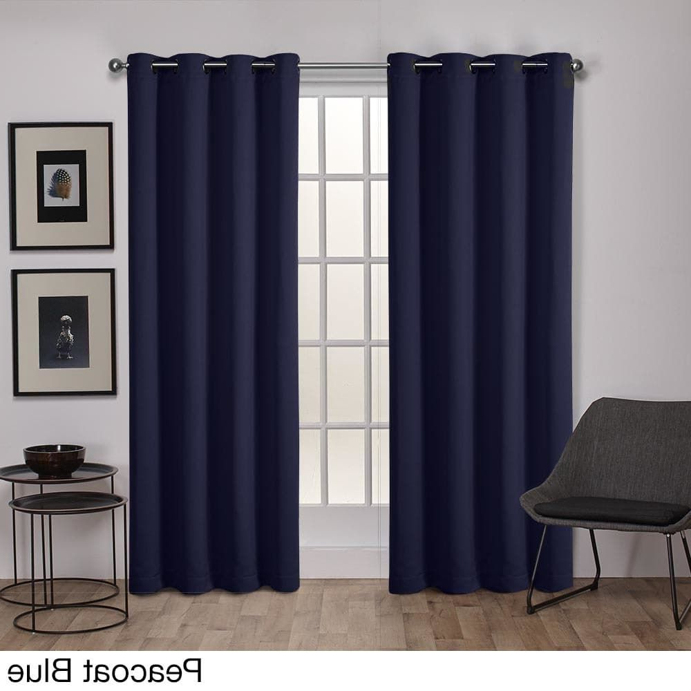 Ati Home Sateen Twill Weave Insulated Blackout Window Throughout Newest Sateen Twill Weave Insulated Blackout Window Curtain Panel Pairs (View 8 of 20)
