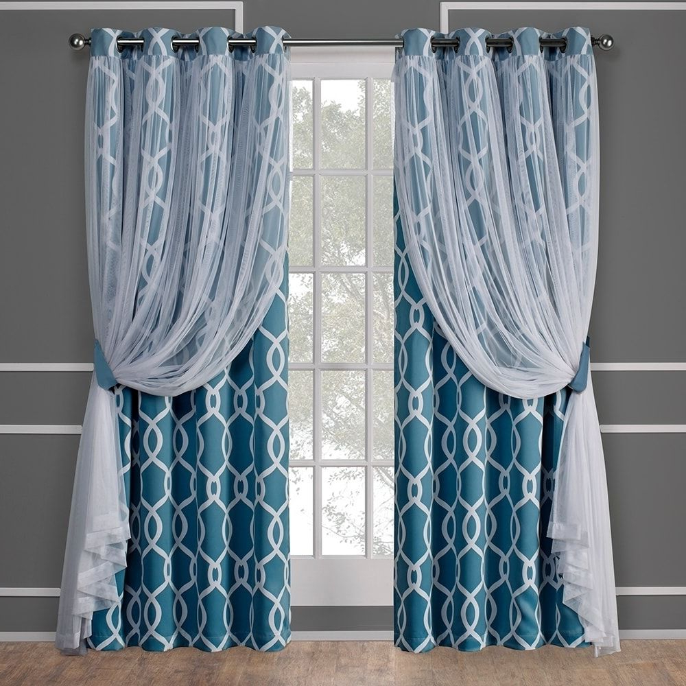 Ati Home Thermal Woven Blackout Grommet Top Curtain Panel Pertaining To Trendy Woven Blackout Curtain Panel Pairs With Grommet Top (View 20 of 20)