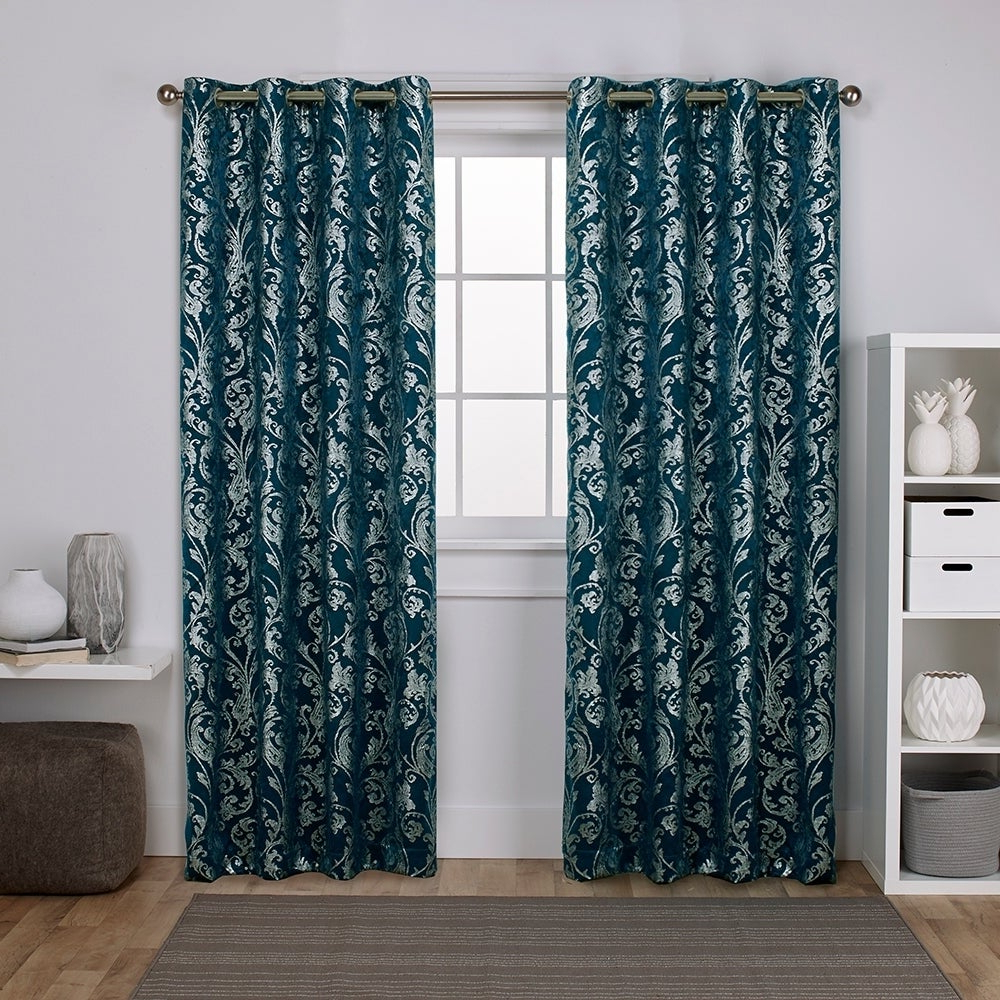 Ati Home Watford Metallic Blackout Grommet Top Curtain Panel Pair With Regard To Latest Embossed Thermal Weaved Blackout Grommet Drapery Curtains (View 19 of 20)