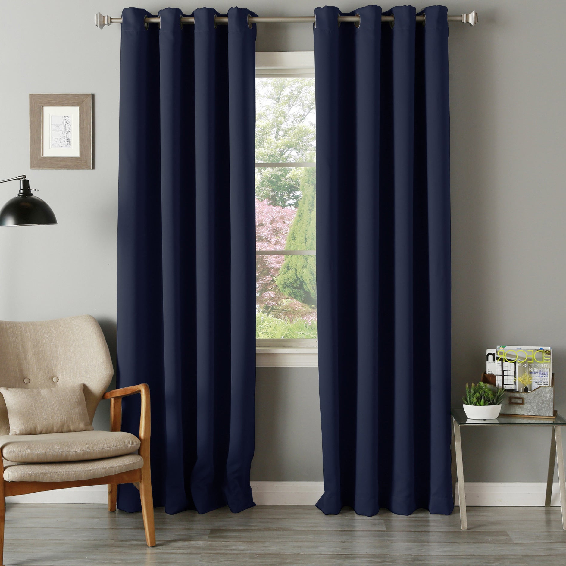 Aurora Home Grommet Top Thermal Insulated 96 Inch Blackout Curtain Panel Pair – 52 X 96 For Most Popular Grommet Top Thermal Insulated Blackout Curtain Panel Pairs (View 7 of 20)