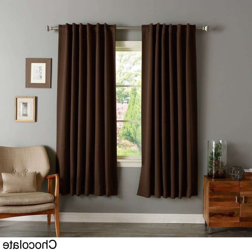 Aurora Home Insulated 72 Inch Thermal Blackout Curtain Panel Pair With Regard To Most Recent Insulated Thermal Blackout Curtain Panel Pairs (View 12 of 20)