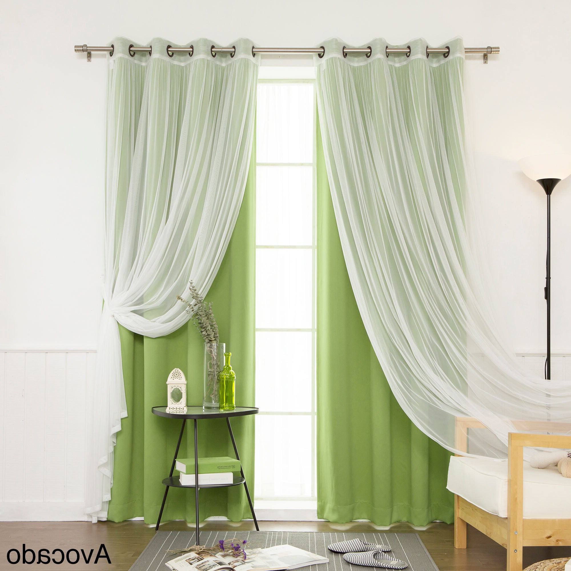 Aurora Home Mix And Match Blackout Blackout Curtains Panel Set (4 Piece) Intended For Most Current Mix And Match Blackout Blackout Curtains Panel Sets (View 9 of 20)