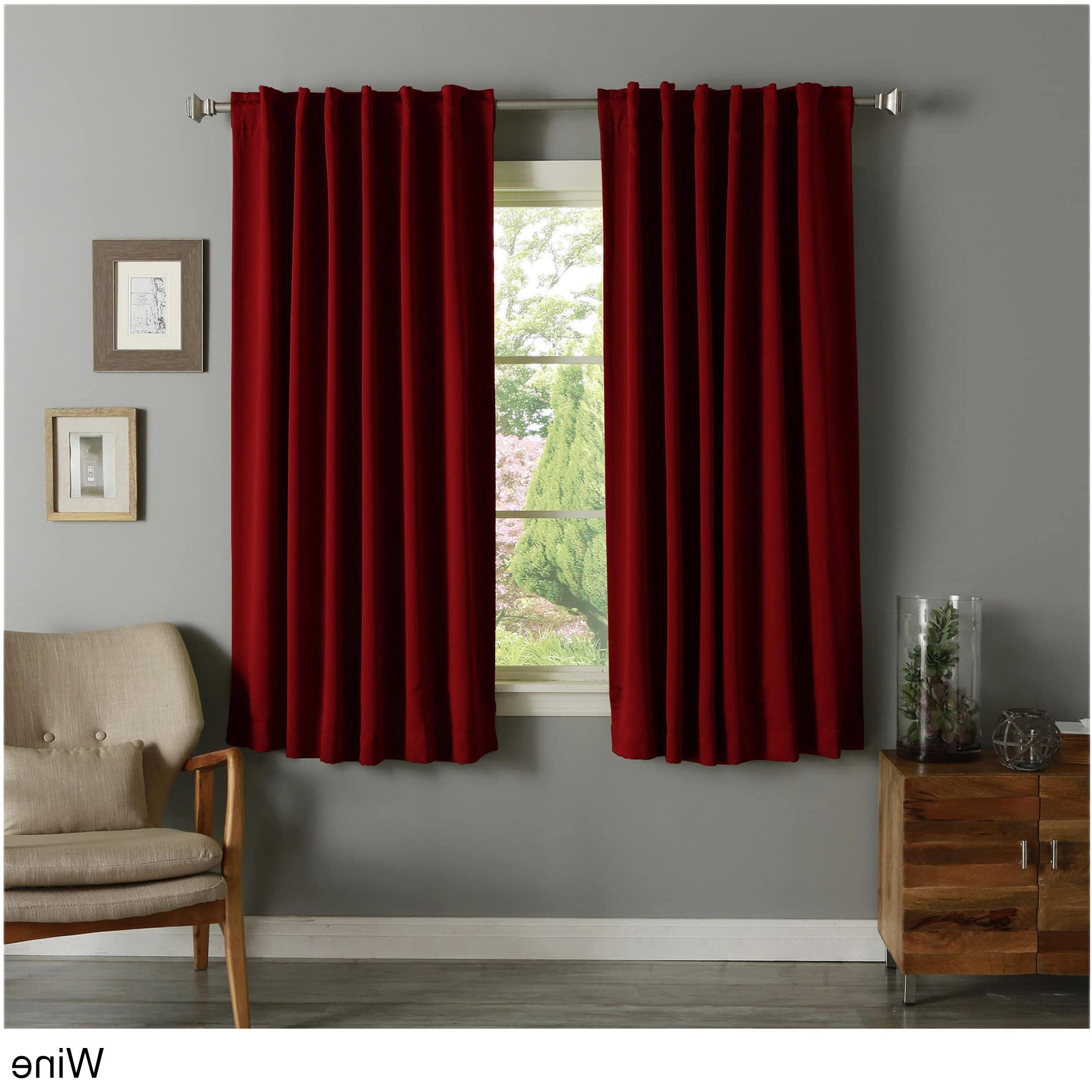 Aurora Home Solid Insulated Thermal 63 Inch Blackout Curtain Panel Pair Intended For Recent Curtain Panel Pairs (View 9 of 20)