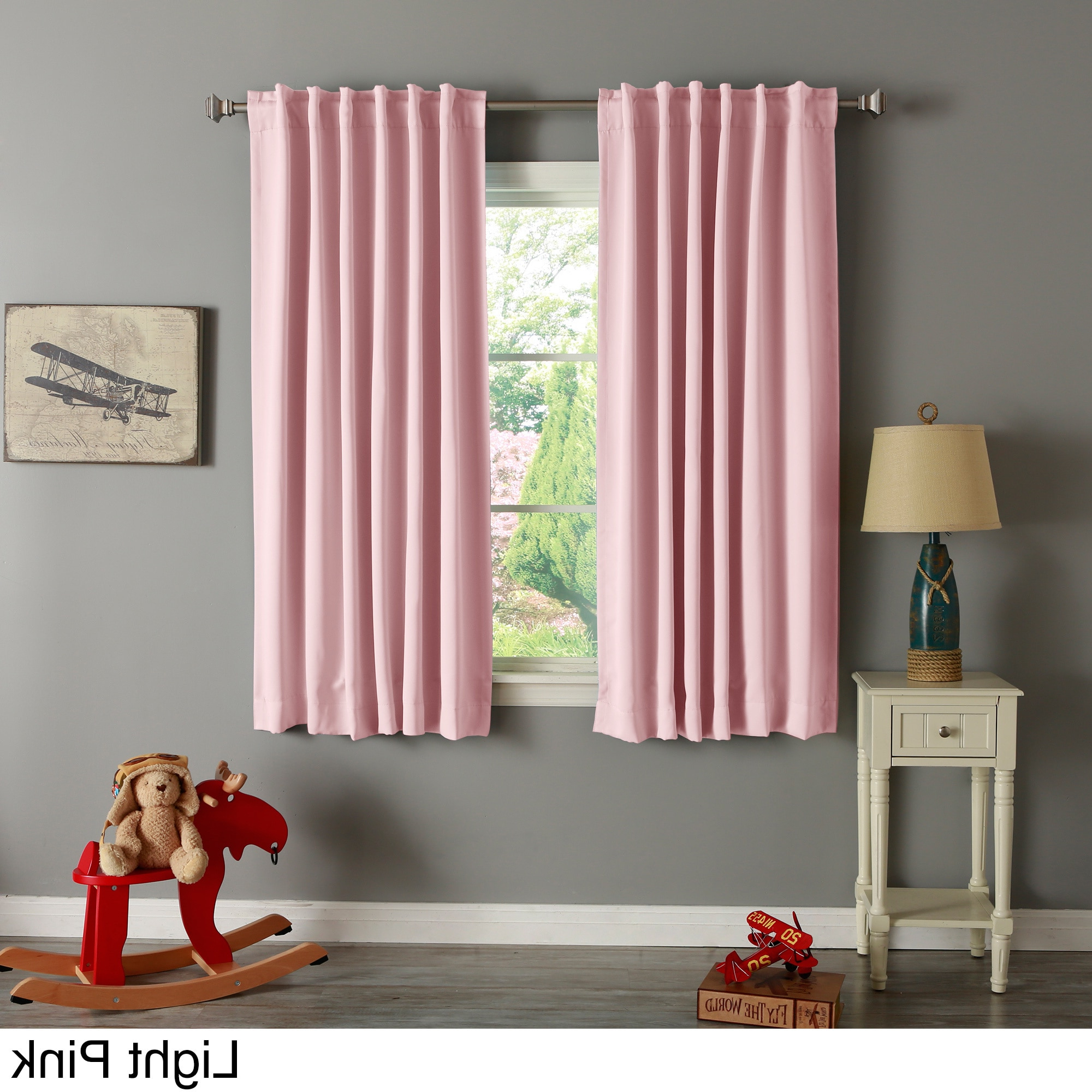 Aurora Home Solid Insulated Thermal Blackout 63 Inch Curtain Intended For Best And Newest Solid Insulated Thermal Blackout Curtain Panel Pairs (View 12 of 20)