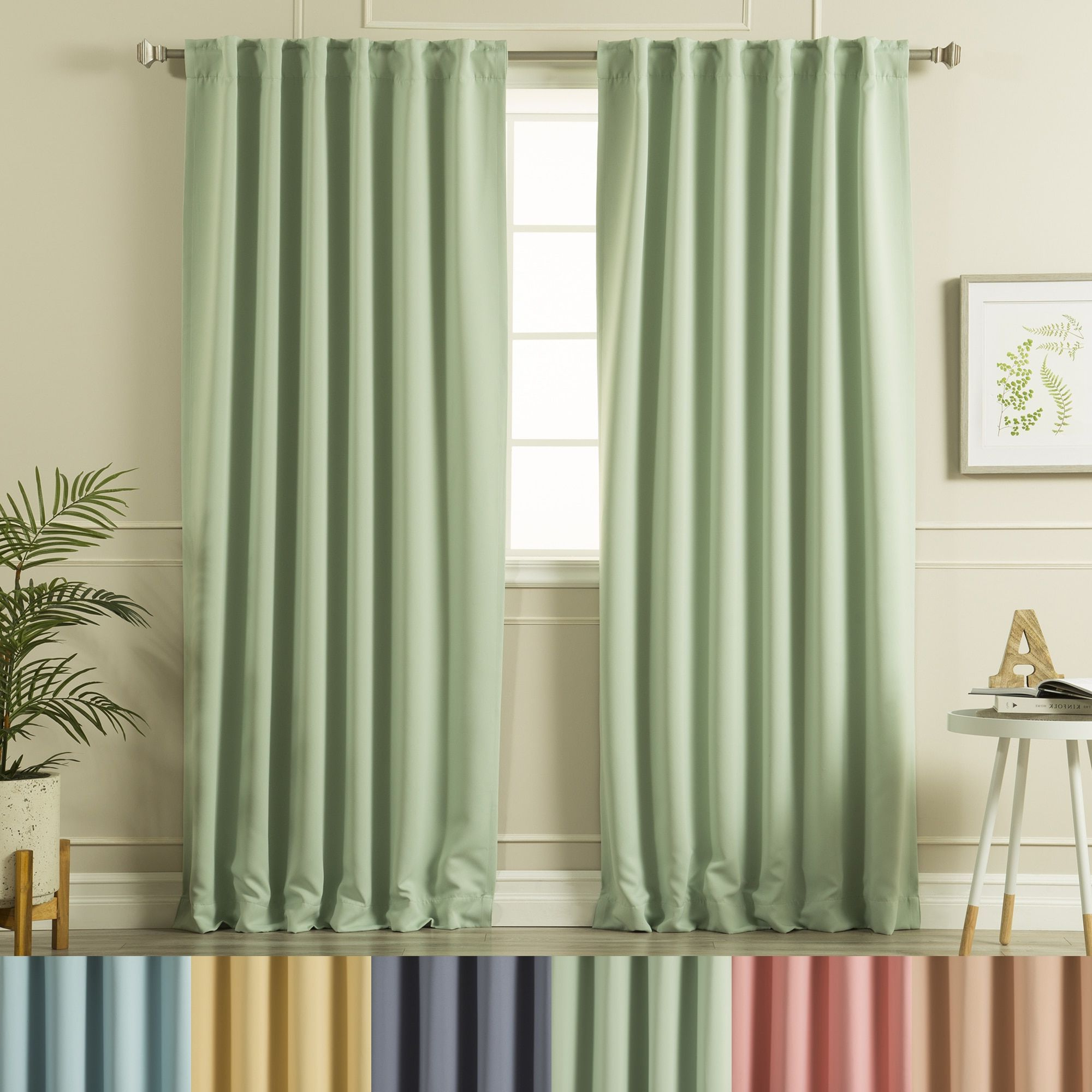 Aurora Home Solid Insulated Thermal Blackout Curtain Panel Inside Newest Gracewood Hollow Tucakovic Energy Efficient Fabric Blackout Curtains (View 8 of 20)