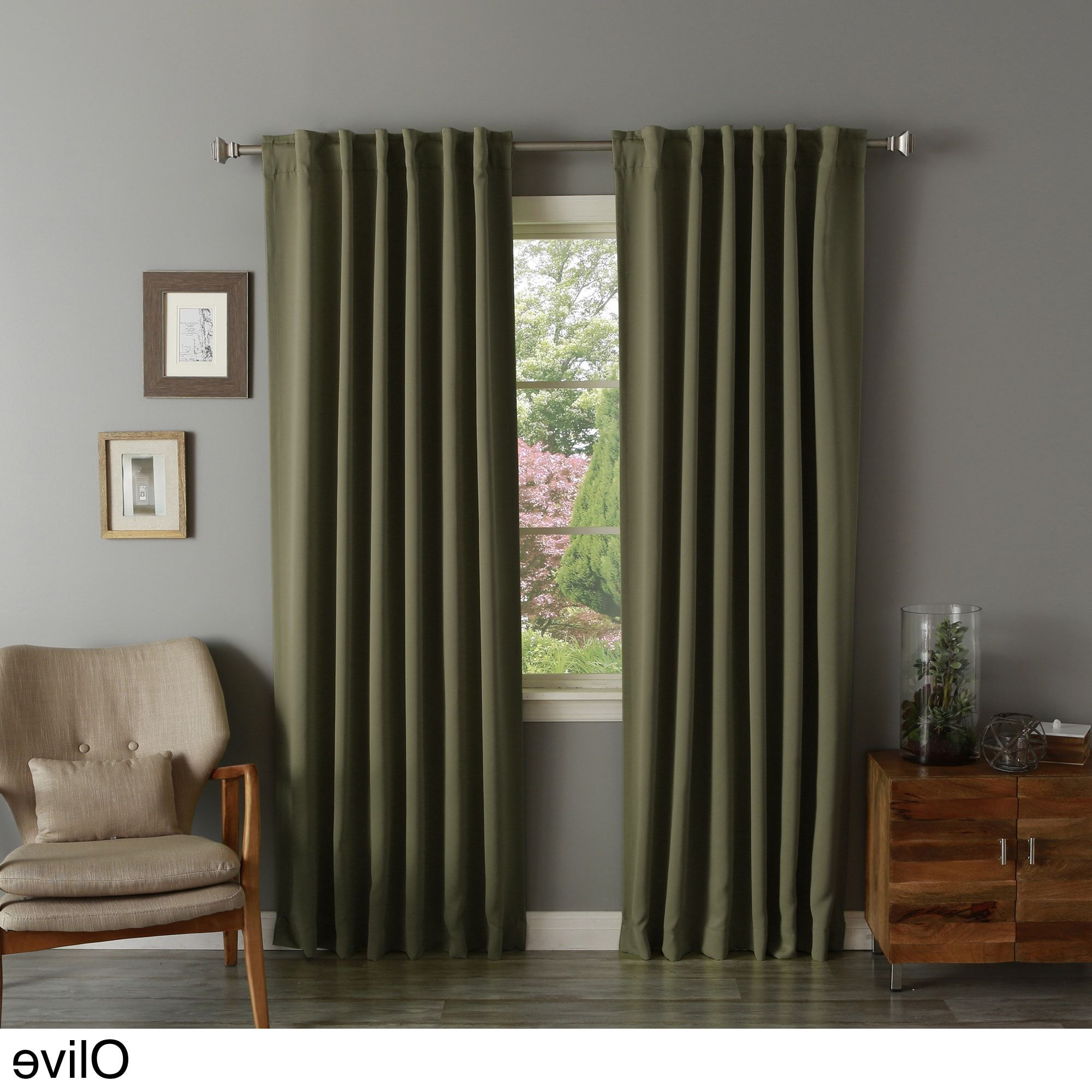 Aurora Home Solid Insulated Thermal Blackout Long Length With Recent Solid Insulated Thermal Blackout Long Length Curtain Panel Pairs (View 5 of 20)