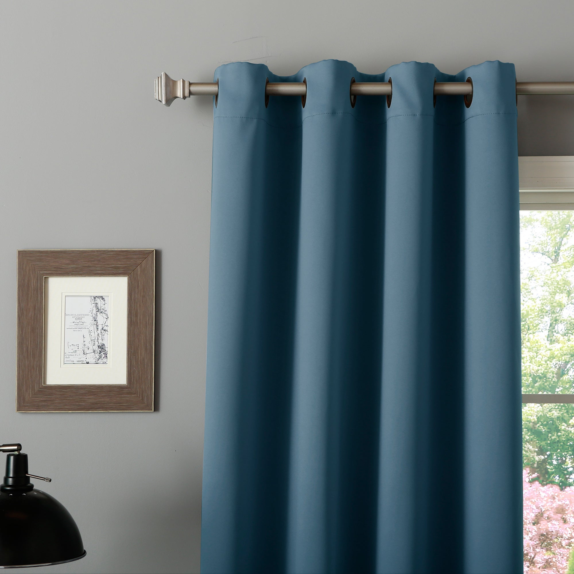 Aurora Home Thermal Insulated Blackout Grommet Top Curtain Panel Pair Intended For Most Current Thermal Insulated Blackout Grommet Top Curtain Panel Pairs (View 3 of 20)