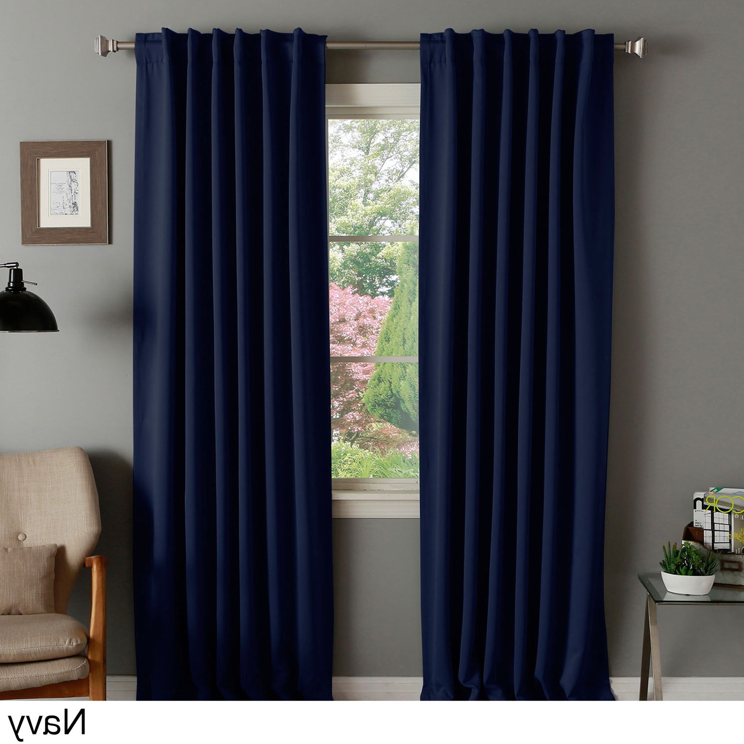 Aurora Home Thermal Rod Pocket 96 Inch Blackout Curtain Panel Pair In Well Liked Thermal Rod Pocket Blackout Curtain Panel Pairs (View 3 of 20)