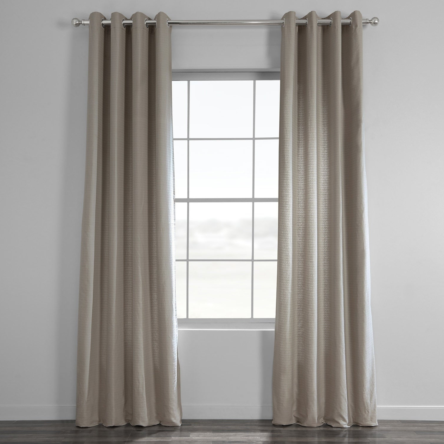 Featured Photo of Bark Weave Solid Cotton Curtains