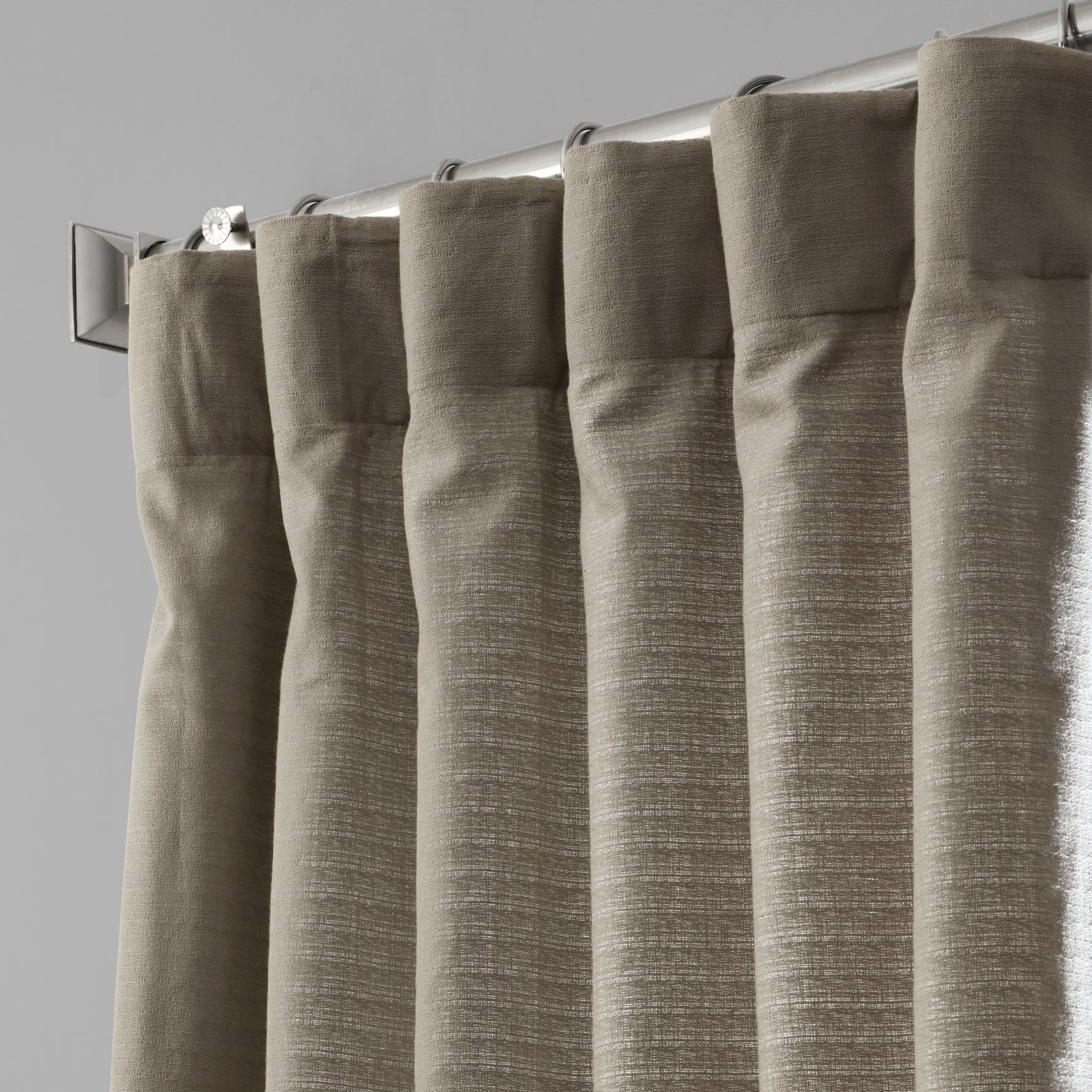 Bark Weave Solid Cotton Curtains In Current Shop Exclusive Fabrics Bark Weave Solid Cotton Curtain – On (View 12 of 20)