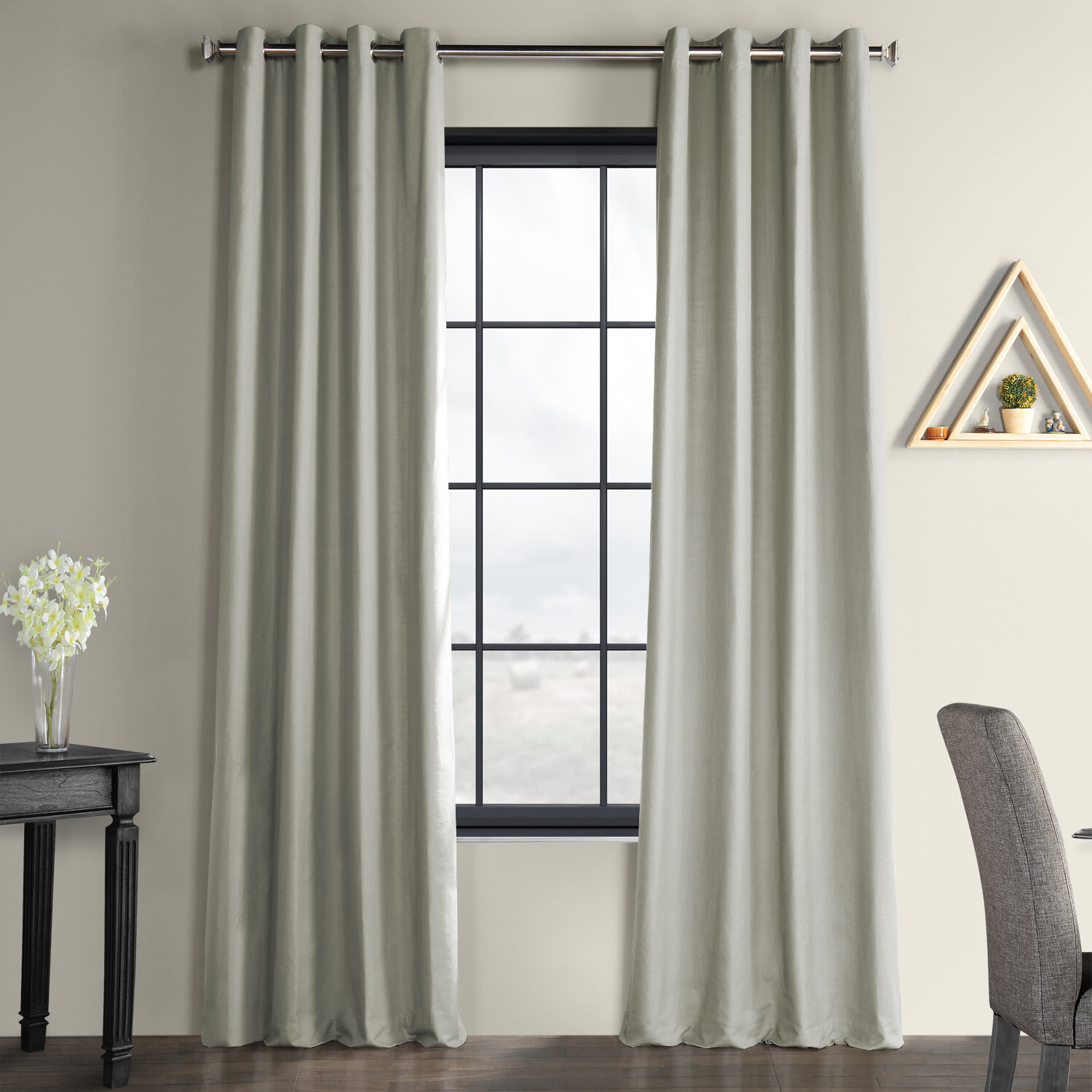 Bark Weave Solid Cotton Curtains In Favorite Solid Country Cotton Linen Weave Grommet Indoor Single Curtain Pane (View 18 of 20)