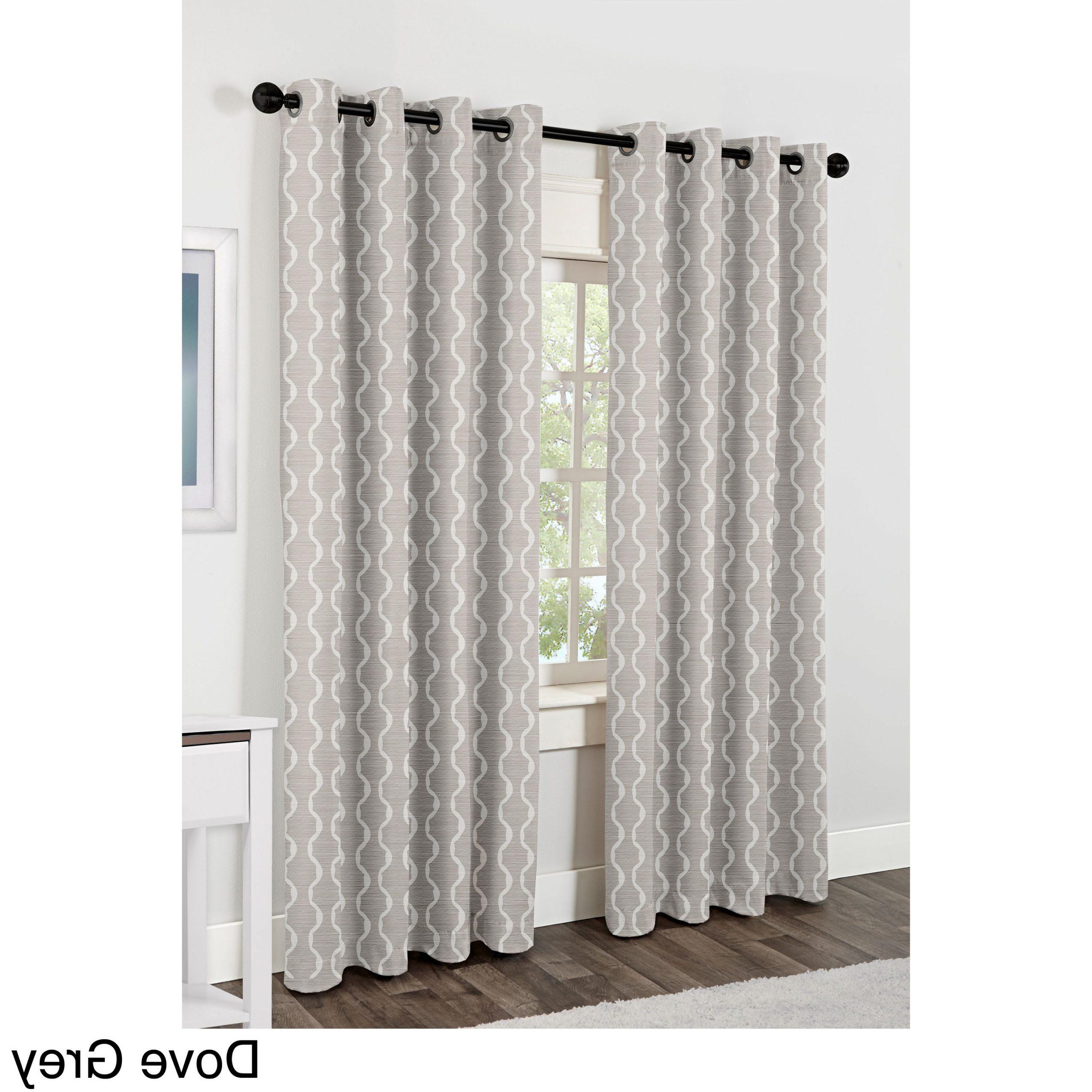 Baroque Linen Grommet Top Curtain Panel Pairs Within Most Recent Ati Home Baroque Linen Grommet Top Curtain Panel Pair (View 5 of 20)