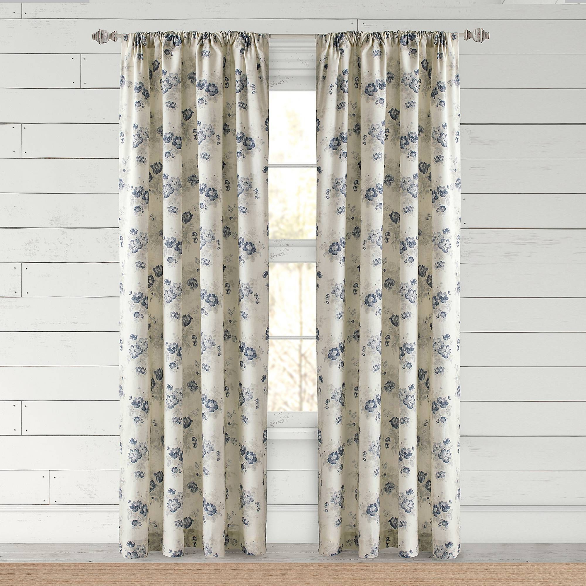 Bee & Willow™ Home Clearwell Rod Pocket Window Curtain Panel Within Newest Willow Rod Pocket Window Curtain Panels (View 5 of 20)