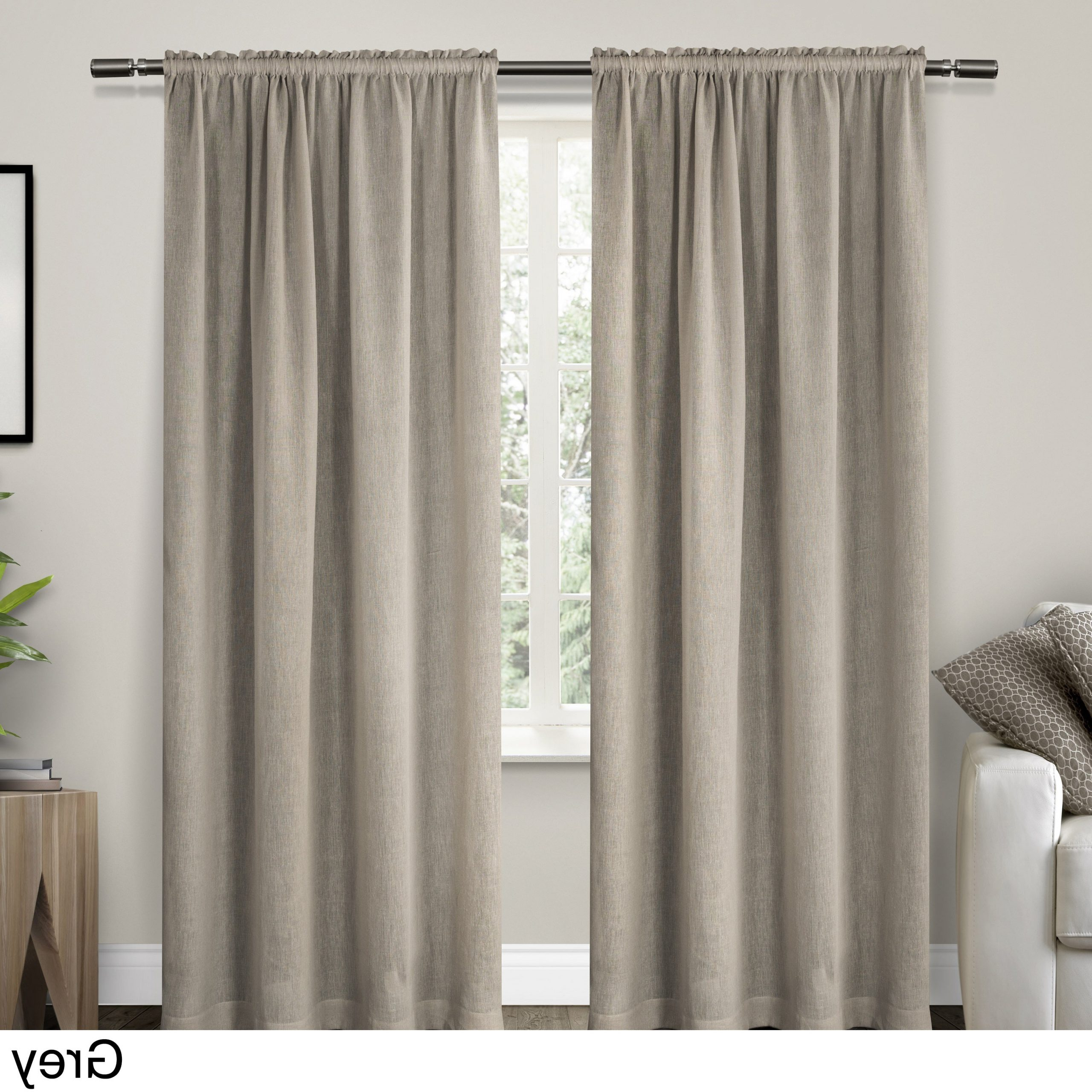 Belgian Sheer Window Curtain Panel Pairs With Rod Pocket Inside Well Known Ati Home Belgian Sheer Window Curtain Panel Pair With Rod Pocket (View 3 of 20)