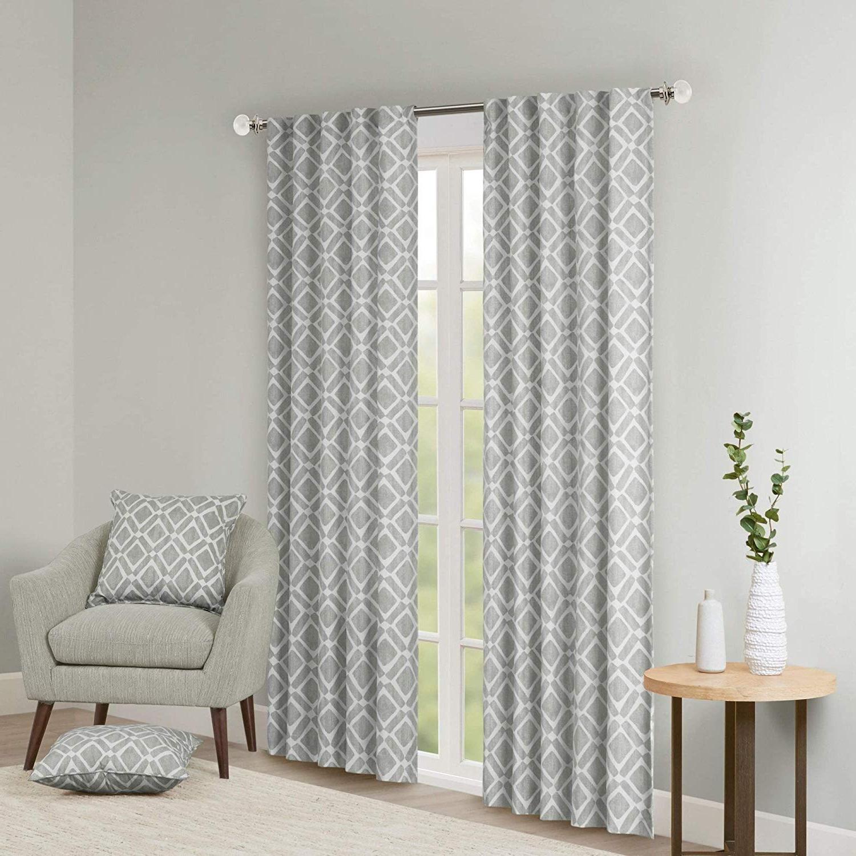 Best And Newest Amazon: Single Piece Ella Grey 63 Inch Curtain Panel Regarding Ella Window Curtain Panels (View 15 of 20)