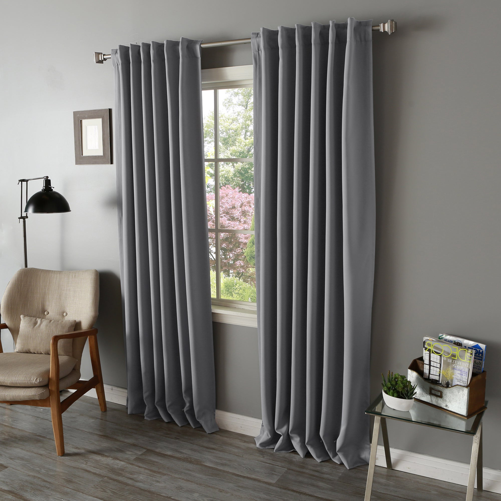 Best And Newest Aurora Home Solid Insulated Thermal Blackout Long Length Curtain Panel Pair With Solid Insulated Thermal Blackout Long Length Curtain Panel Pairs (View 3 of 20)
