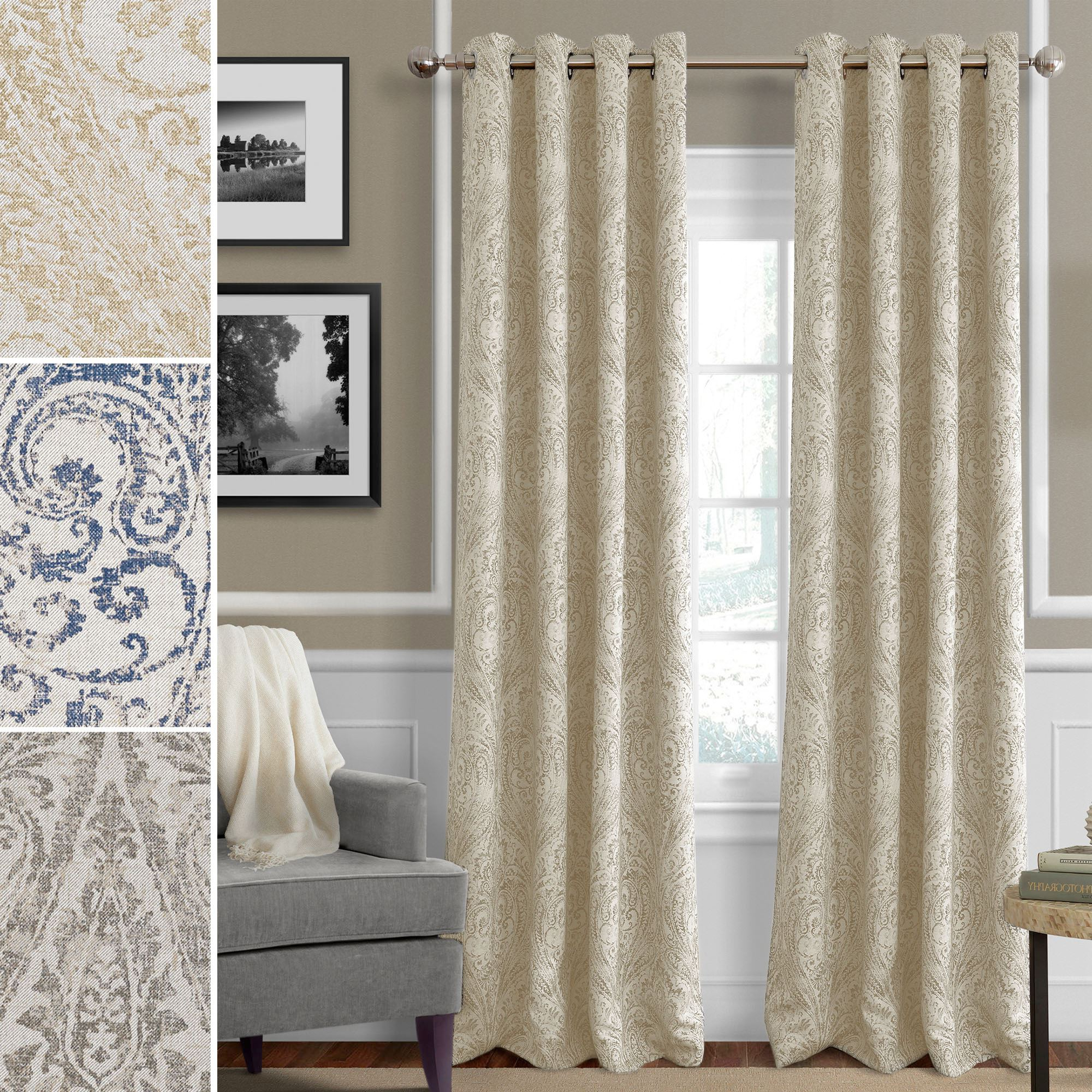 Best And Newest Blackout Grommet Curtain Panels Regarding Julianne Room Darkening Grommet Curtain Panels (View 2 of 20)