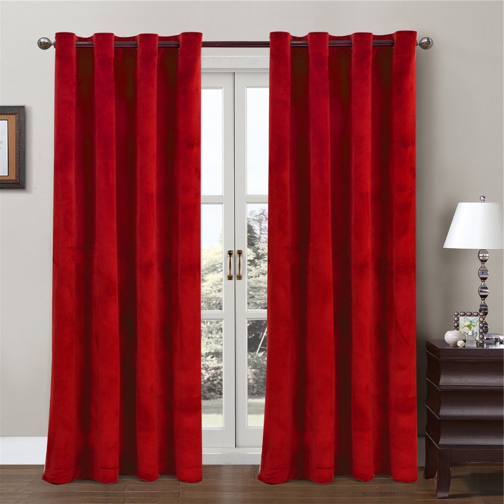 Best And Newest Cheap Velvet Panel Drapes, Find Velvet Panel Drapes Deals On Inside Signature Pinch Pleated Blackout Solid Velvet Curtain Panels (View 20 of 20)