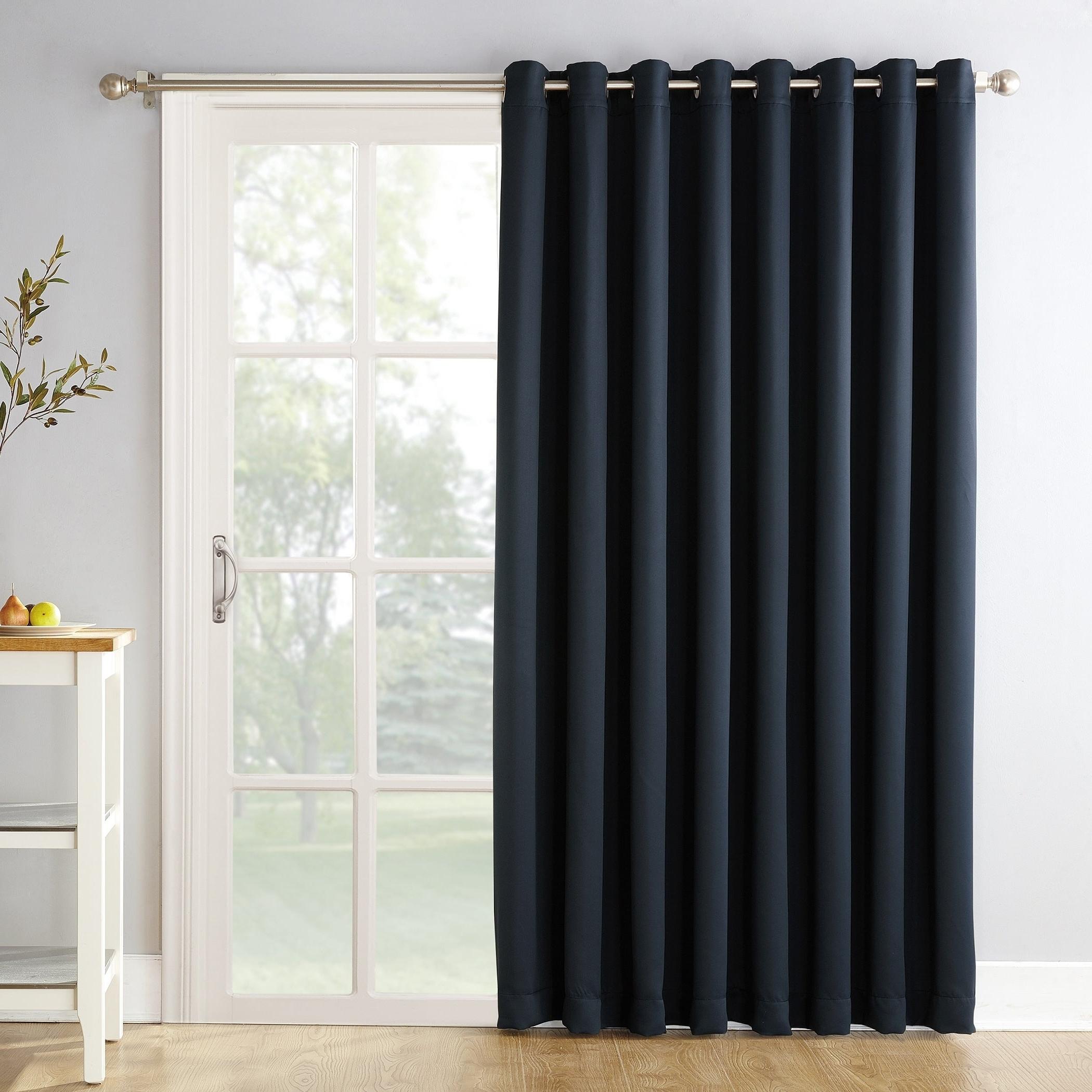 Best And Newest Details About Sun Zero Hayden Grommet Blackout Patio Door Window Curtain With Hayden Grommet Blackout Single Curtain Panels (View 5 of 20)