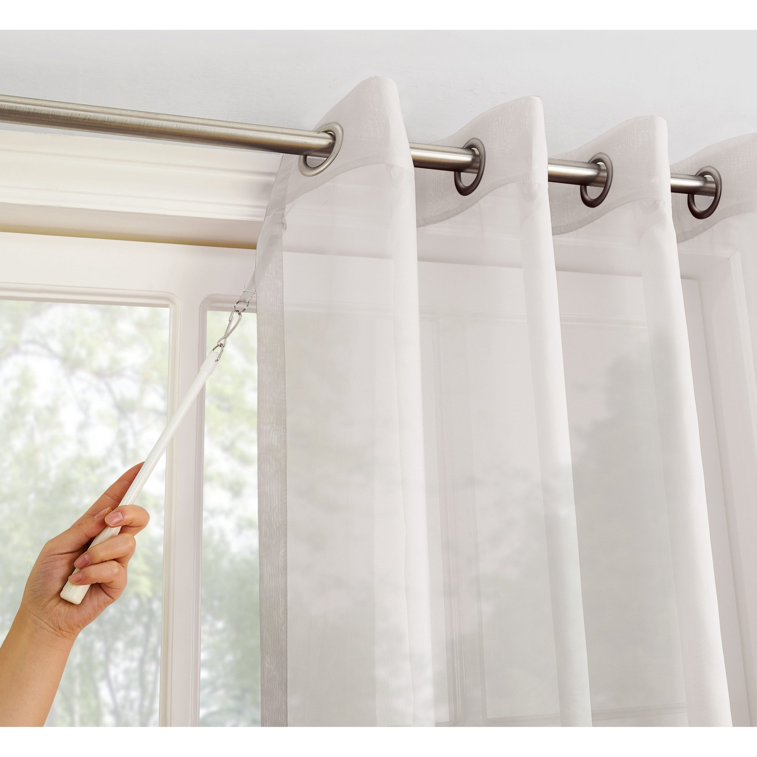 Best And Newest Emily Sheer Voile Solid Single Patio Door Curtain Panels Regarding No (View 16 of 20)