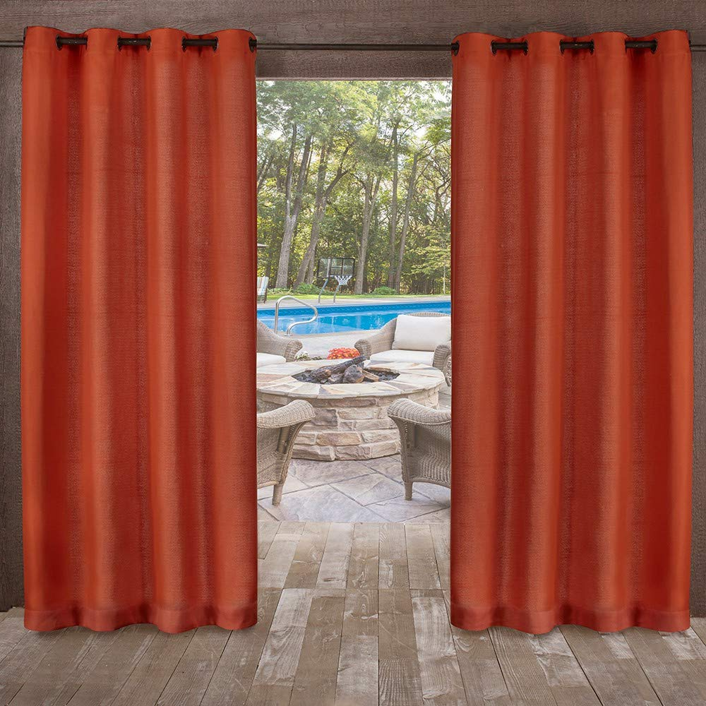 Best And Newest Exclusive Home Curtains Delano Grommet Top Panel Pair, Mecca Pertaining To Delano Indoor/outdoor Grommet Top Curtain Panel Pairs (View 10 of 20)