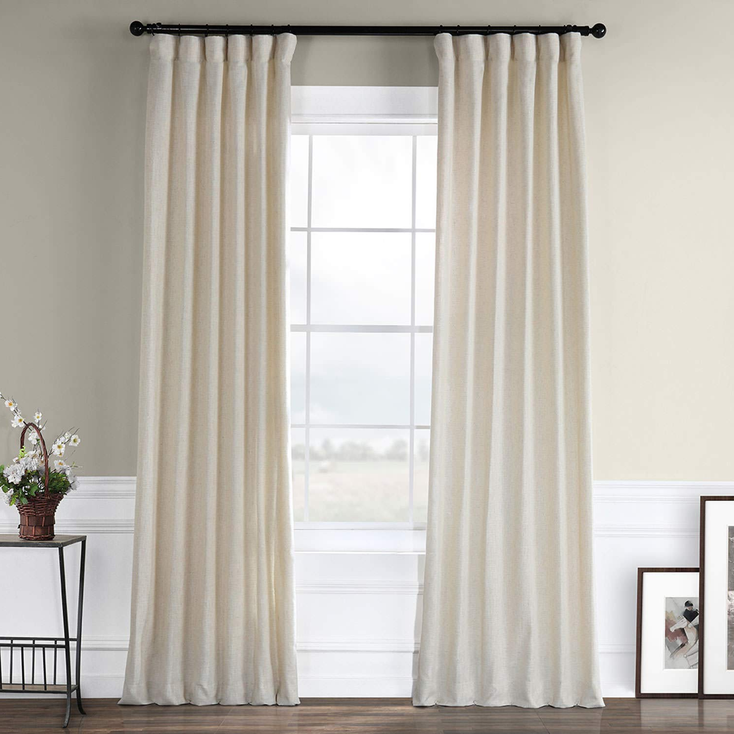 Best And Newest Heavy Faux Linen Single Curtain Panels With Half Price Drapes Fhlch Vet13192 108 Barley Heavy Faux Linen Curtain, 50 X 108, Brown (View 4 of 20)