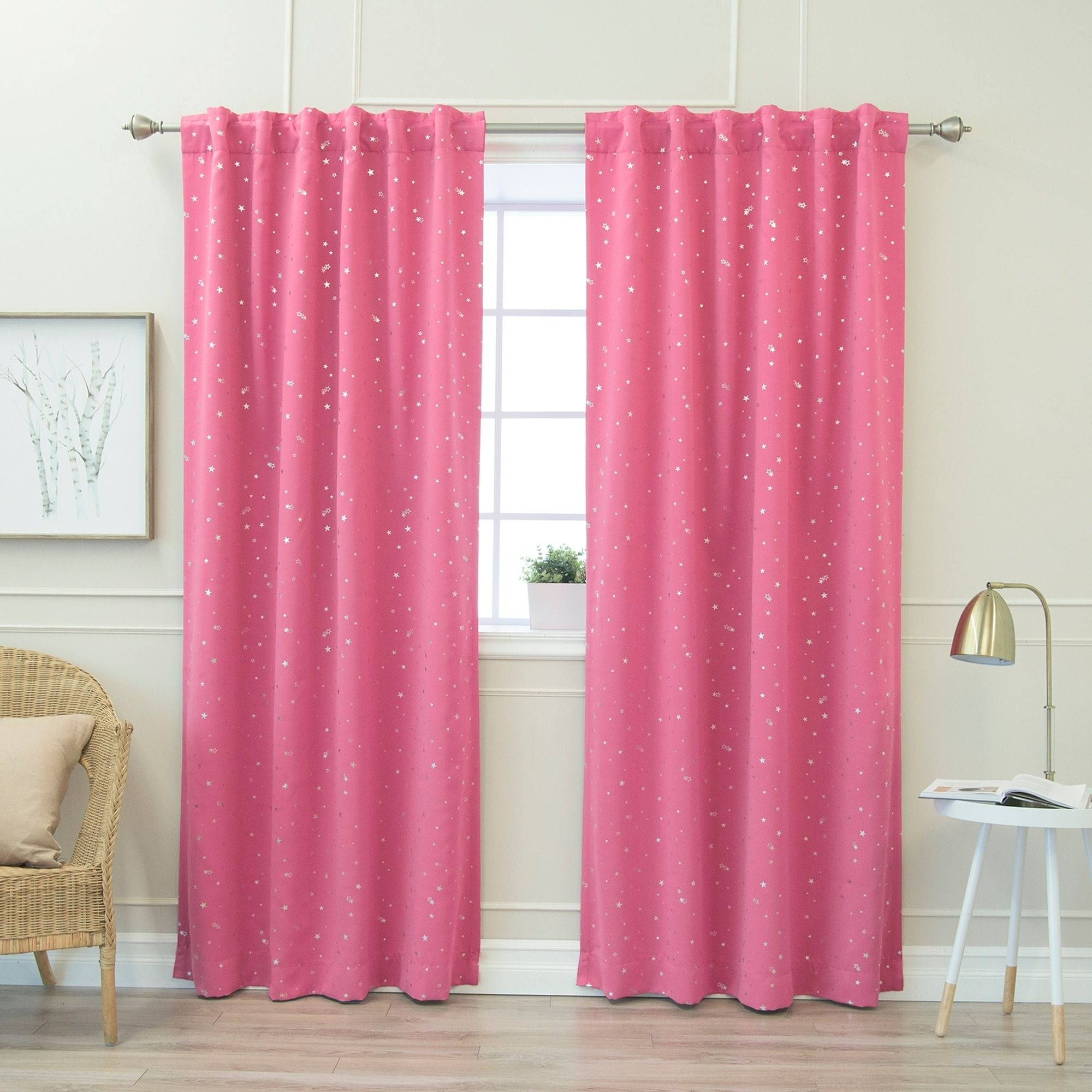 Best And Newest Insulated Thermal Blackout Curtain Panel Pairs Regarding Aurora Home Star Struck 84 Inch Insulated Thermal Blackout (View 17 of 20)