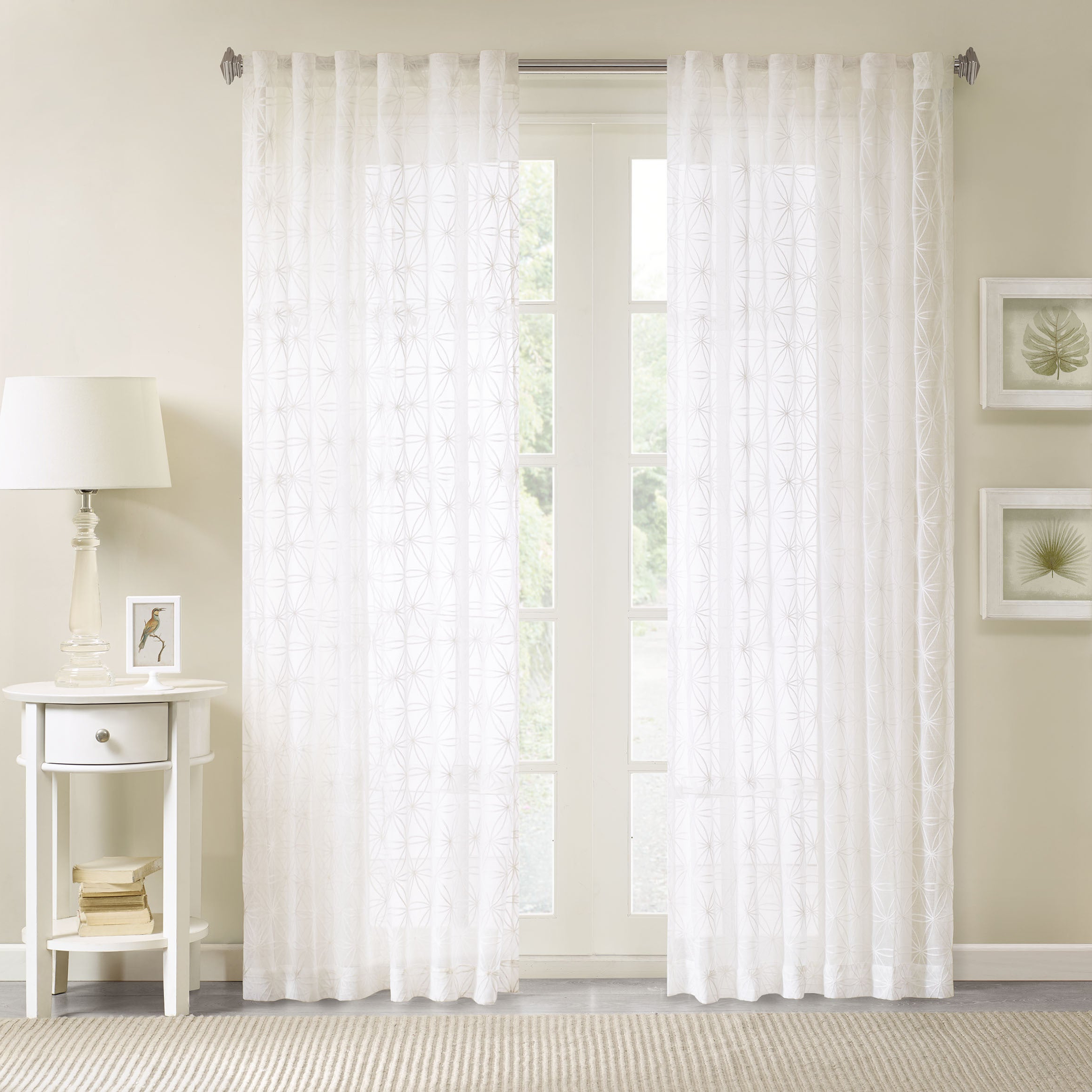 Featured Photo of Kida Embroidered Sheer Curtain Panels