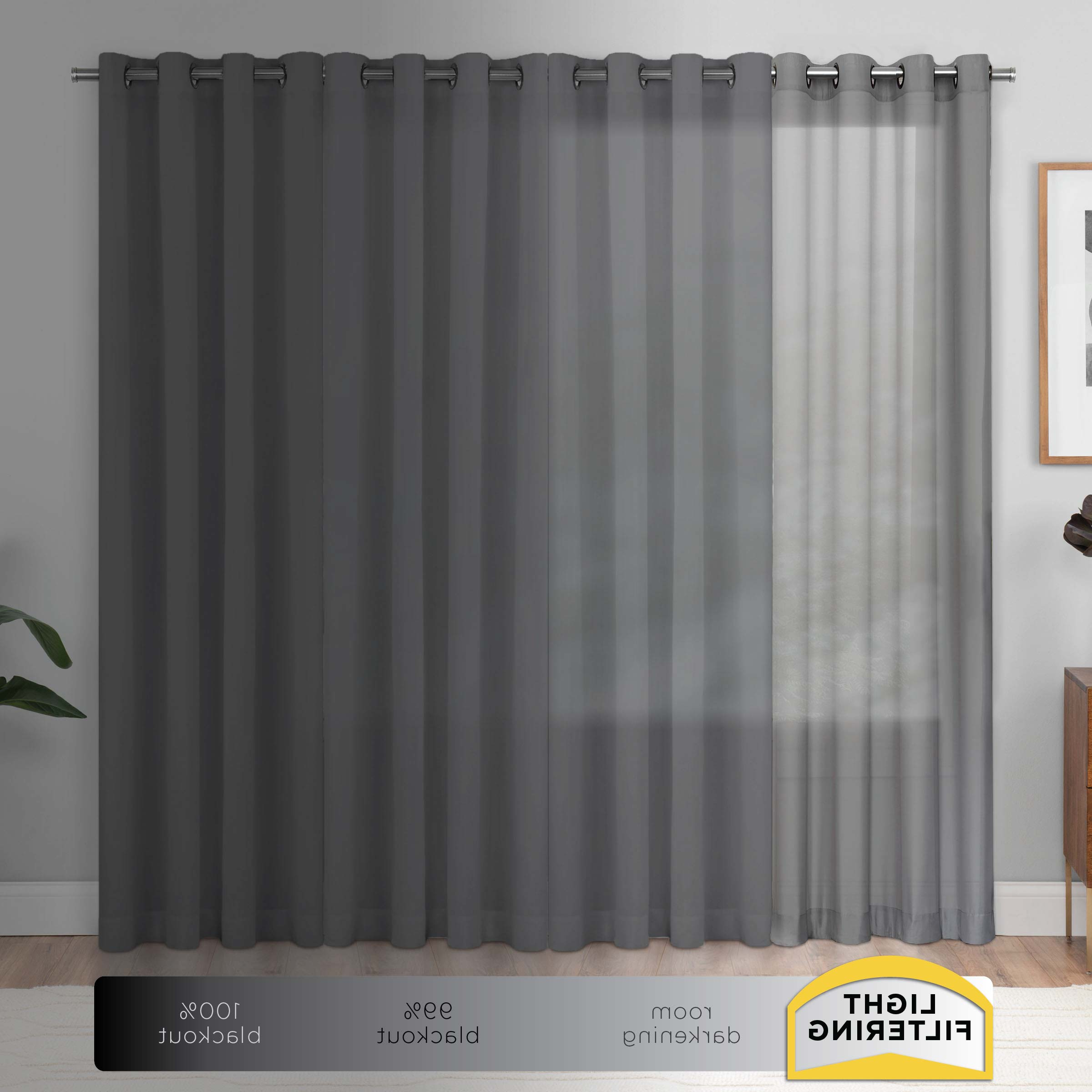 Best And Newest Light Filtering Sheer Single Curtain Panels With Eclipse Liberty Light Filtering Sheer Curtain (View 2 of 20)