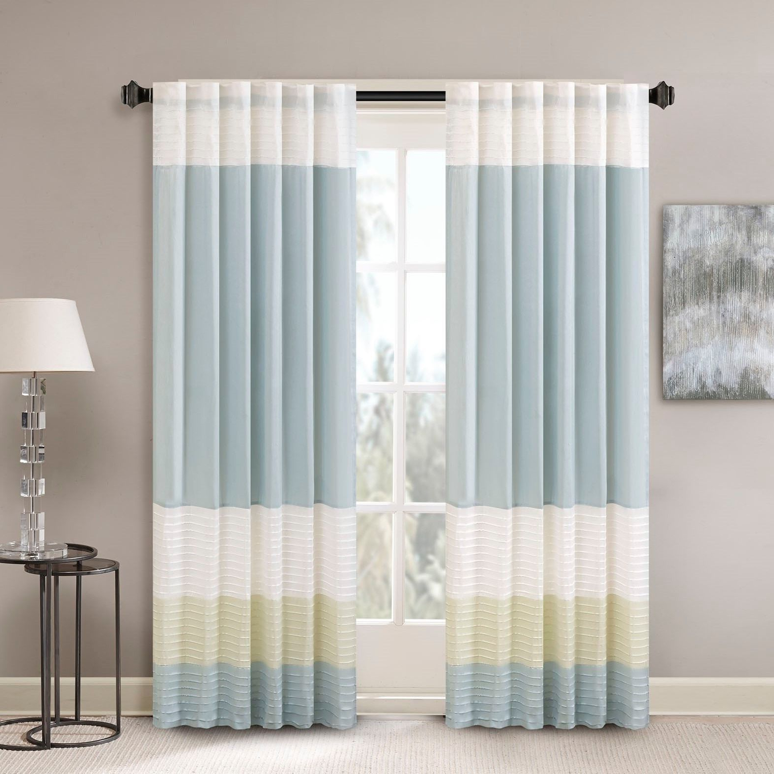 Best And Newest Madison Park Chester Polyoni Pintuck Curtain Panel (50X84 Intended For Chester Polyoni Pintuck Curtain Panels (View 1 of 20)