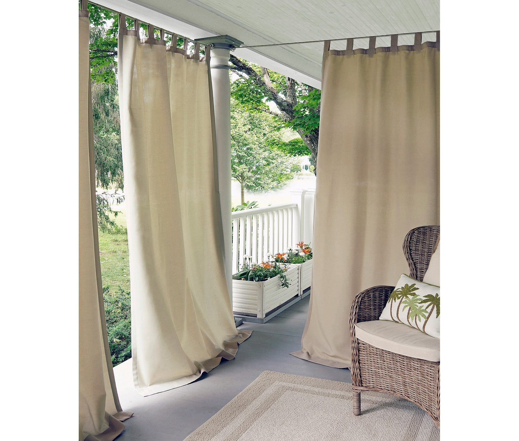 "Best And Newest Matine Indoor/outdoor Curtain Panels In Elrene Matine Solid Indoor/outdoor 52"" X 95"" Window Curtain Panel Taupe (View 10 of 20)"
