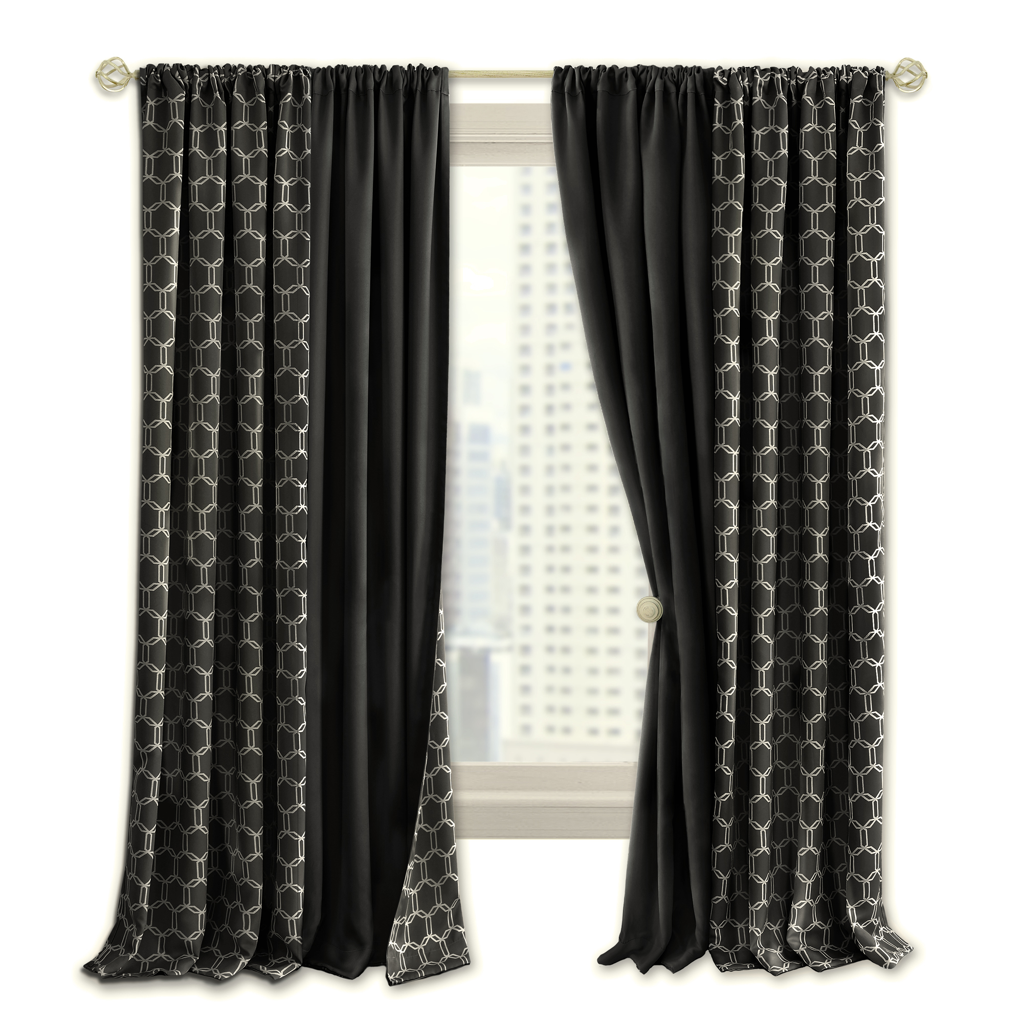 Best And Newest Prelude Reversible Blackout Rod Pocket Curtain Panel Inside Rod Pocket Curtain Panels (View 17 of 20)